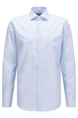 Chemise Regular Fit en coton, à motif vichy, Bleu vif