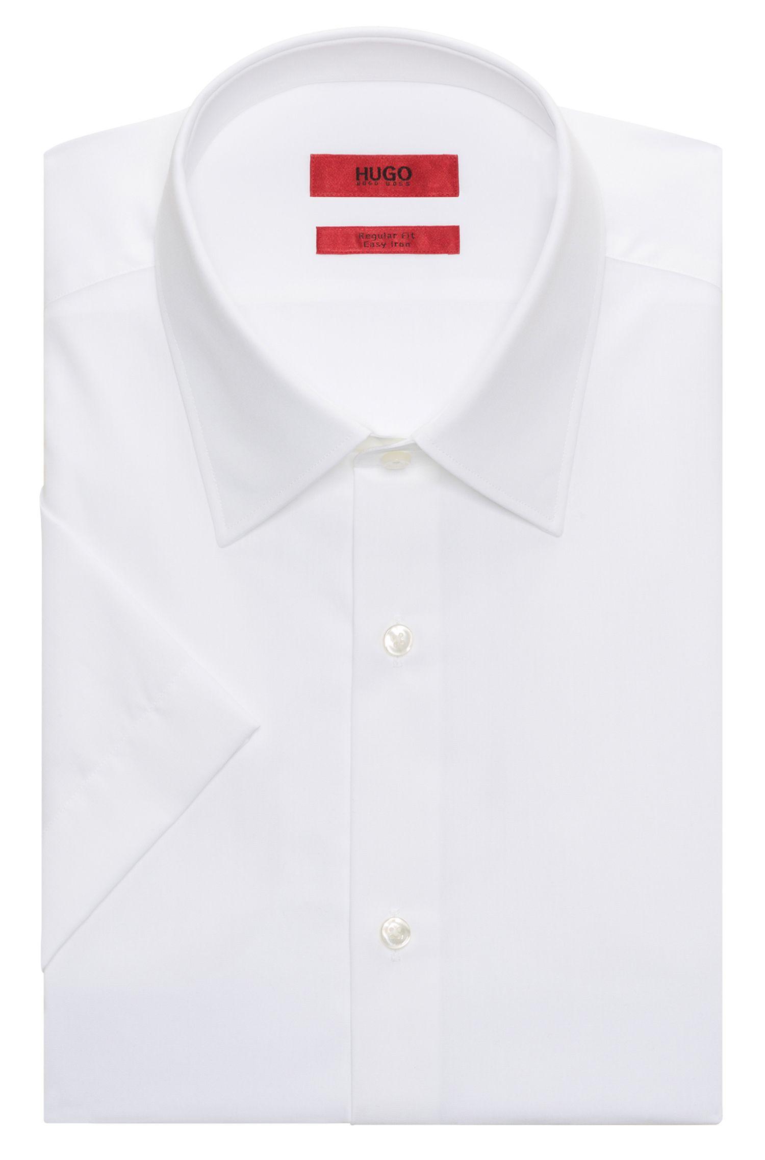 Chemise à manches courtes Regular Fit en popeline de coton