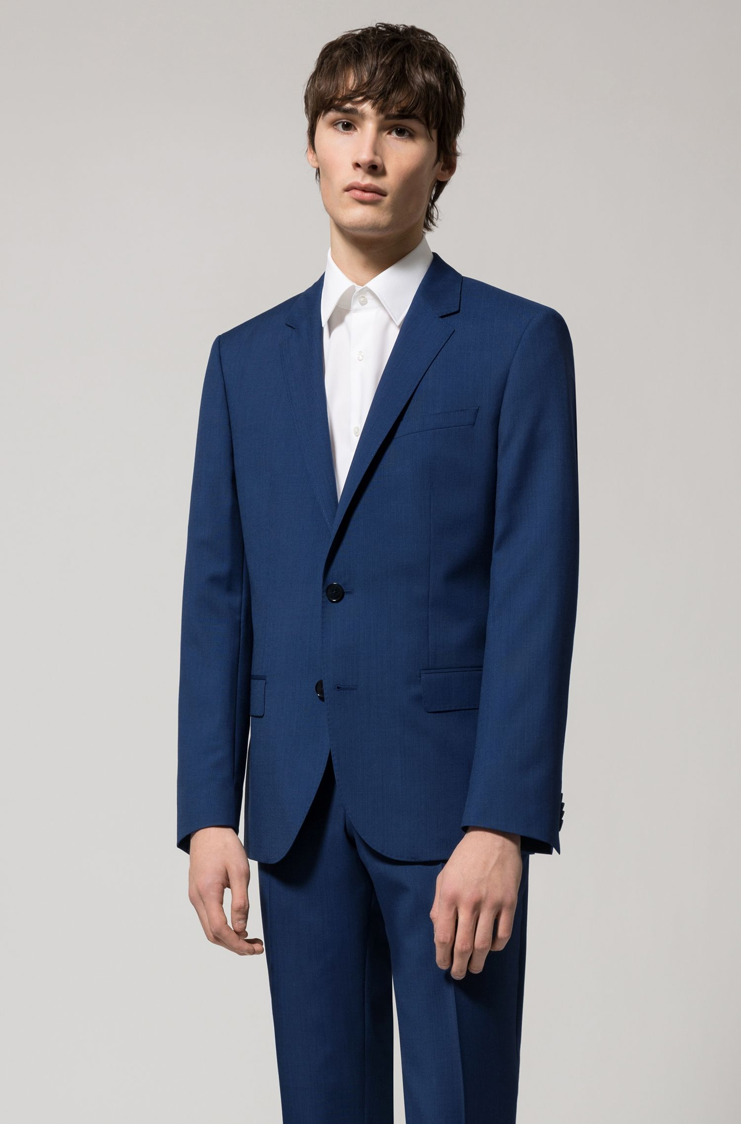 Regular-fit overhemd van katoenpopeline met korte mouwen