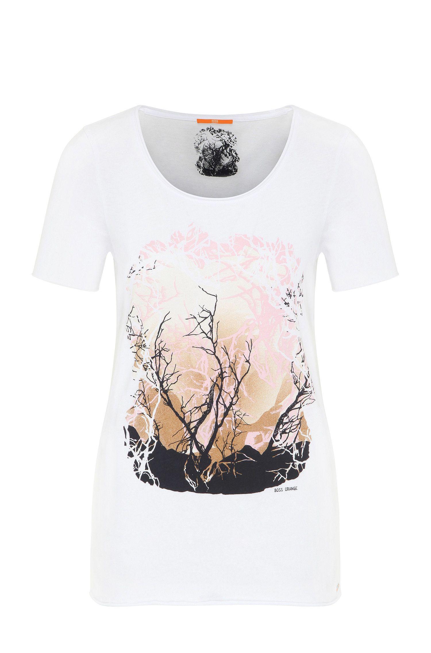 Slim-Fit T-Shirt aus Baumwoll-Mix mit Modal