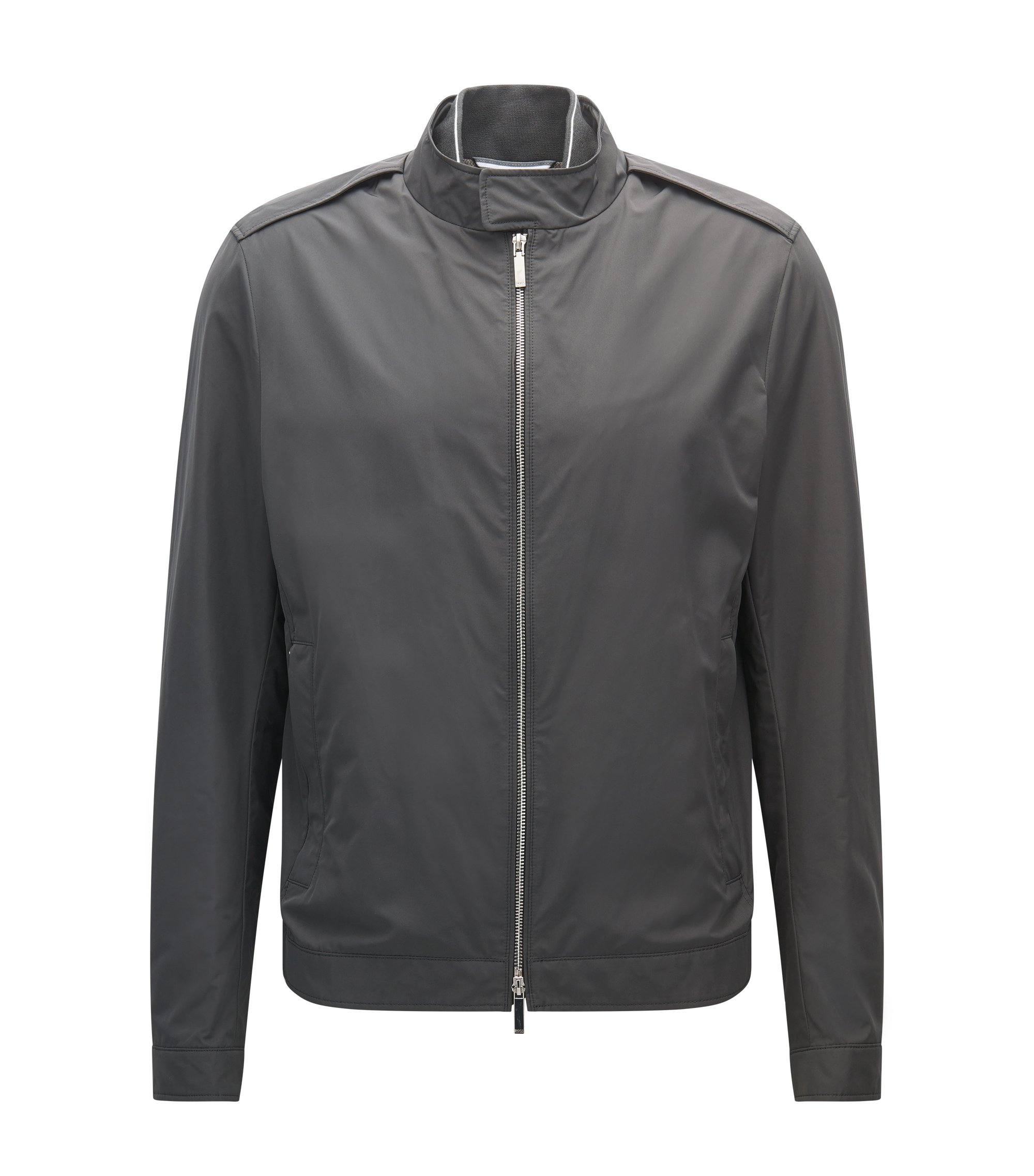 Regular-fit water-repellent jacket in a technical fabric , Dark Grey