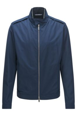 Regular-fit water-repellent jacket in a technical fabric , Blue