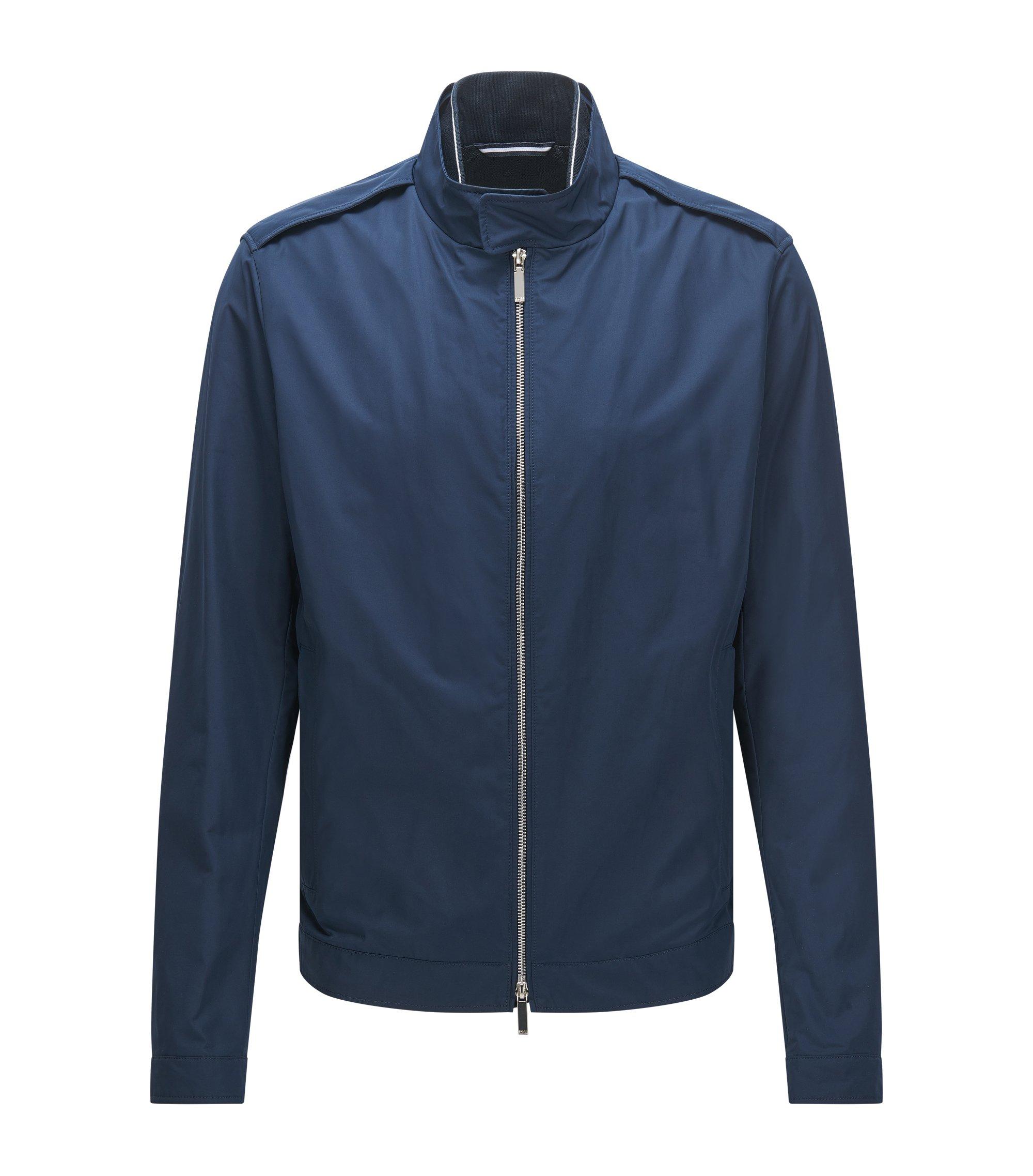 Waterafstotende regular-fit jas van technisch materiaal, Blauw