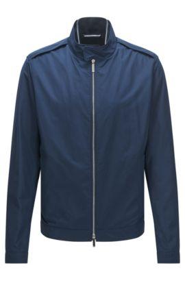 Regular-Fit Jacke aus wasserabweisendem Material-Mix , Blau