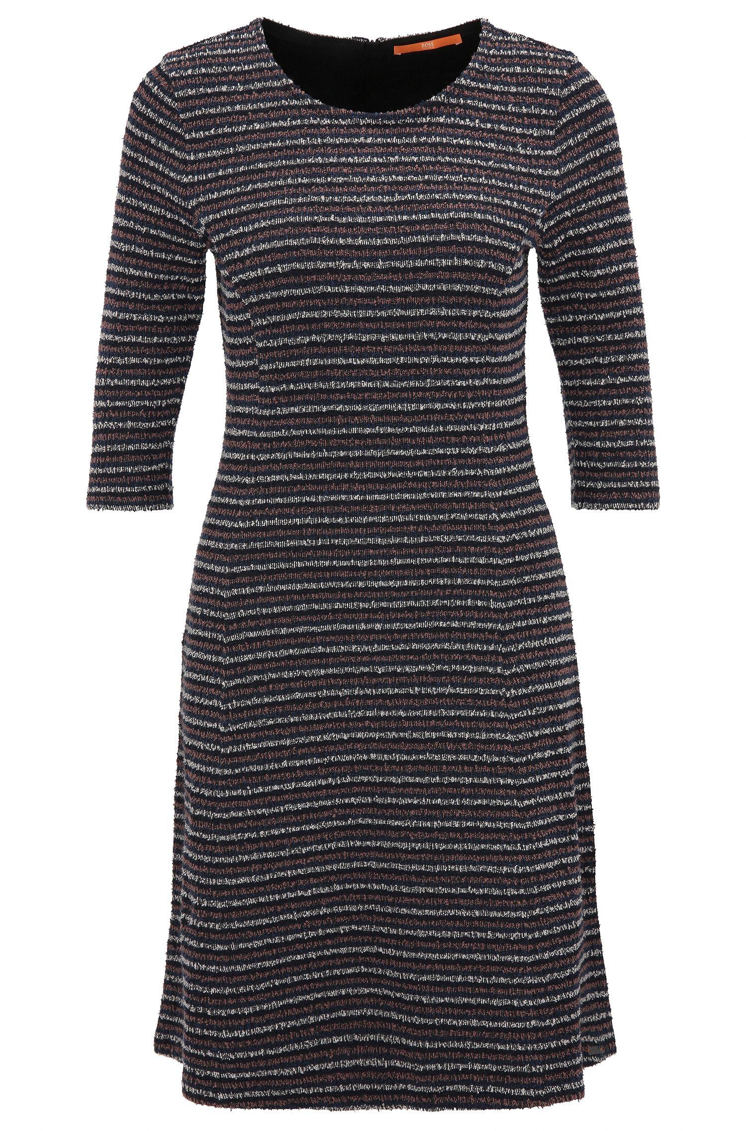 A-line dress in bouclé jersey