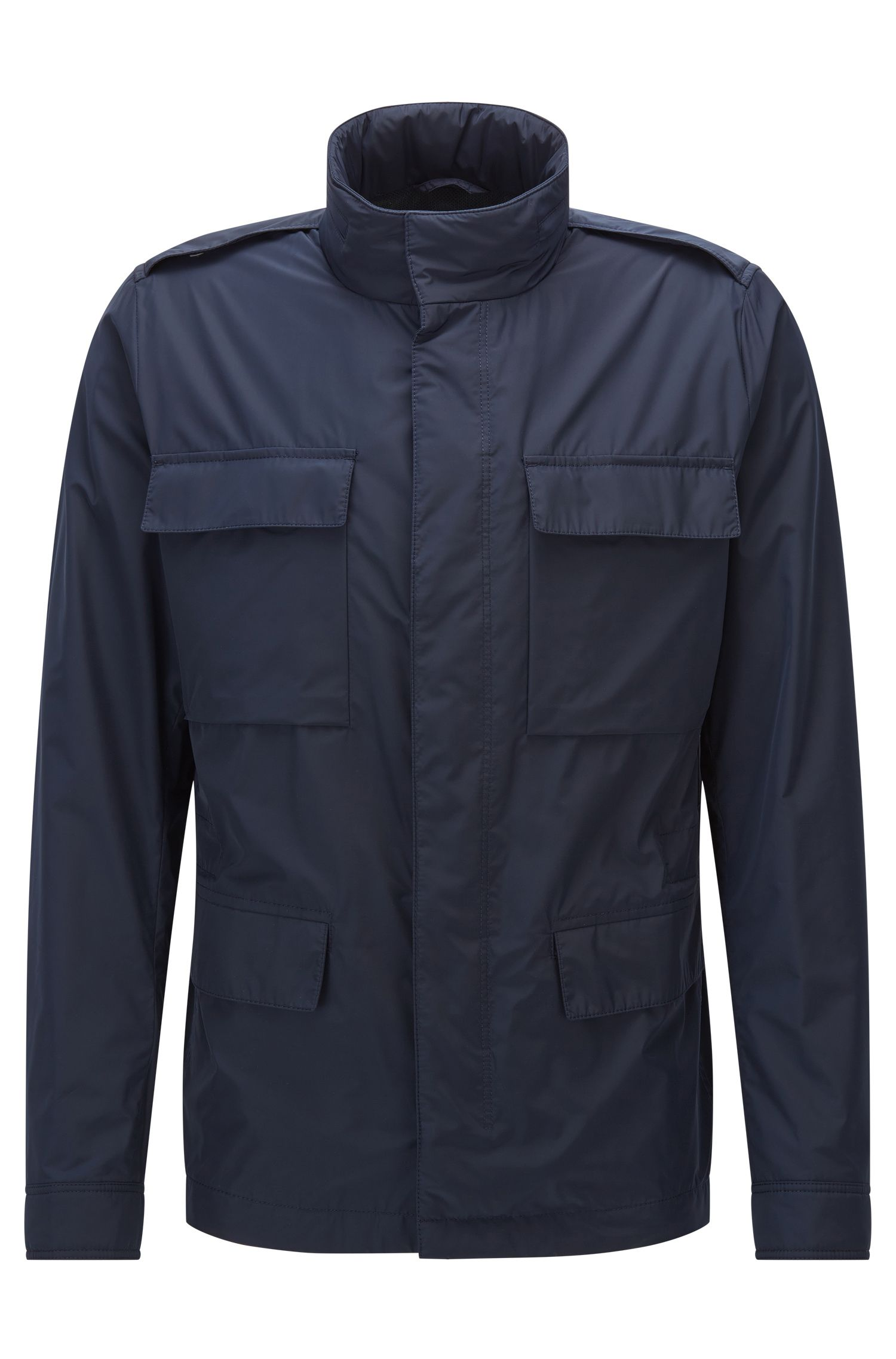 Regular-fit fieldjacket van technisch materiaal