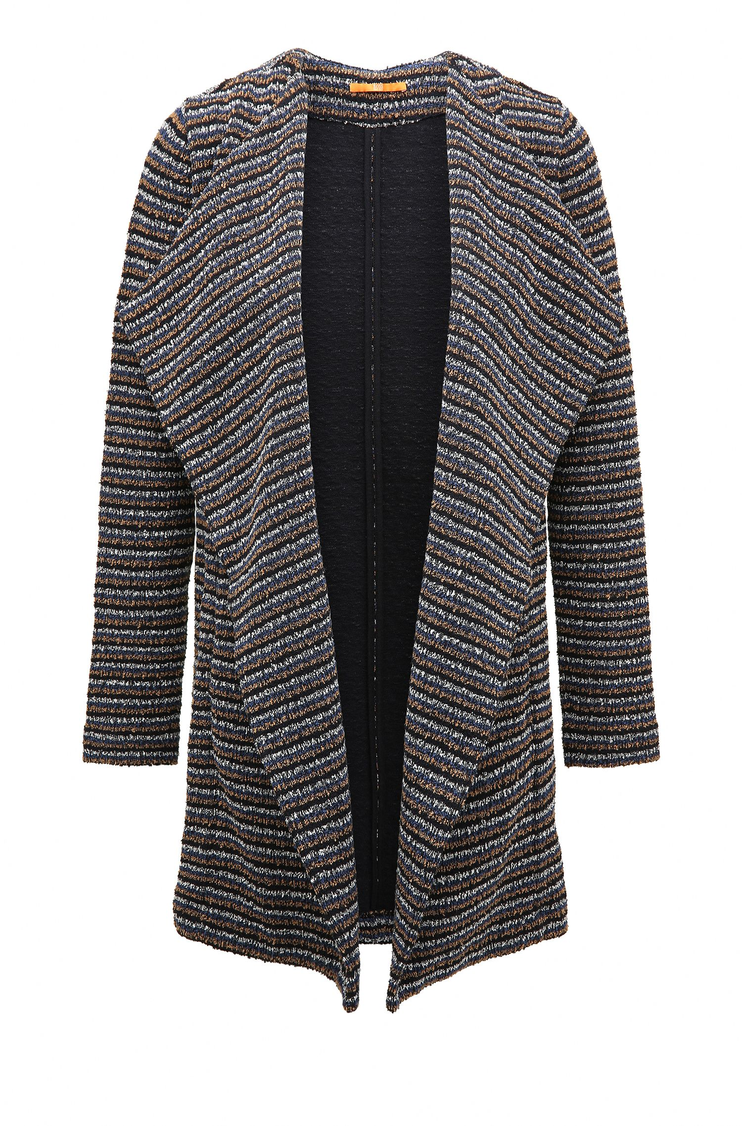 Relaxed-fit jersey coat in structured bouclé