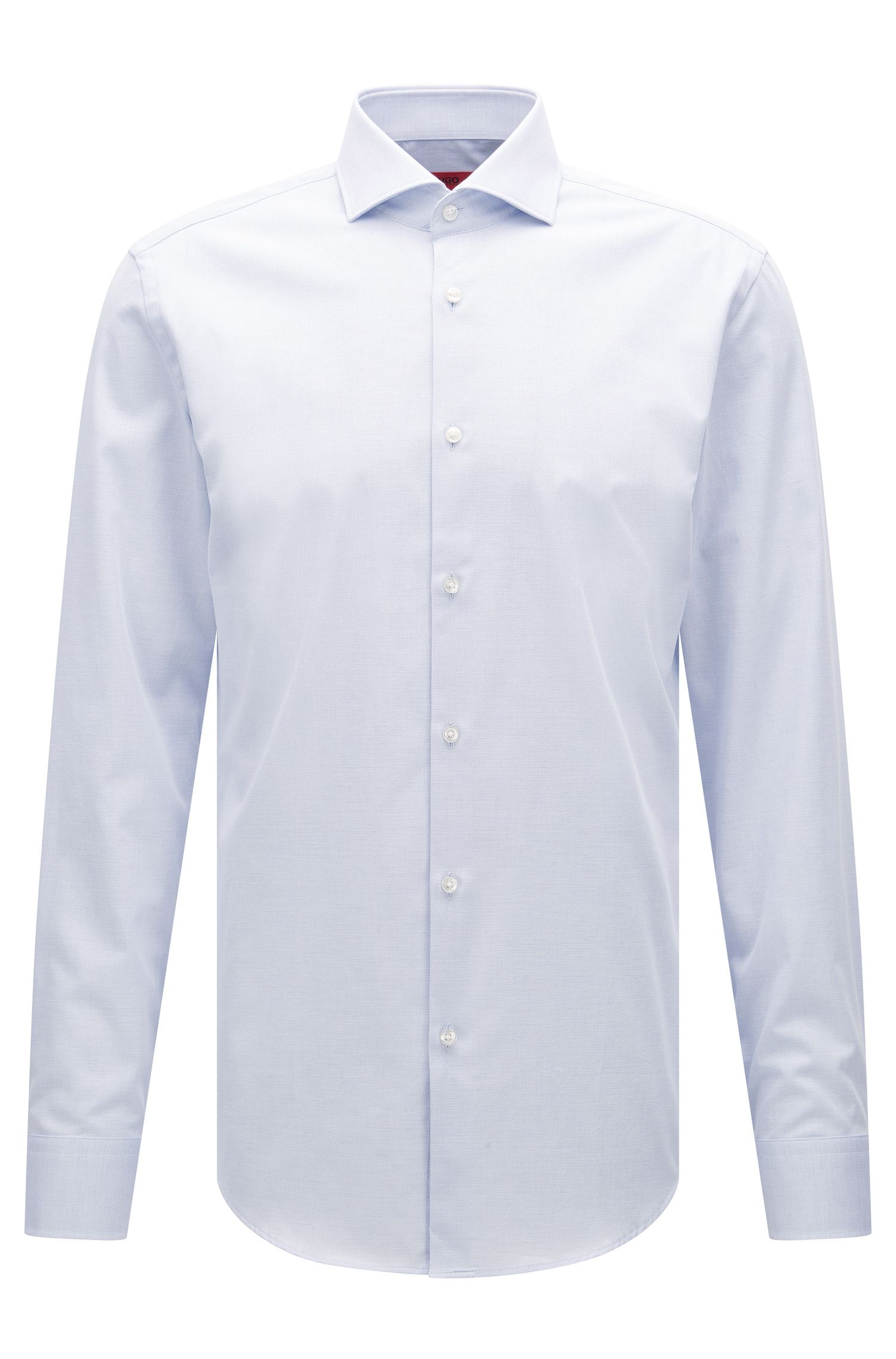 Chemise Slim Fit en coton stretch structuré