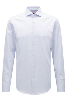 Chemise Slim Fit en coton stretch structuré, Bleu vif