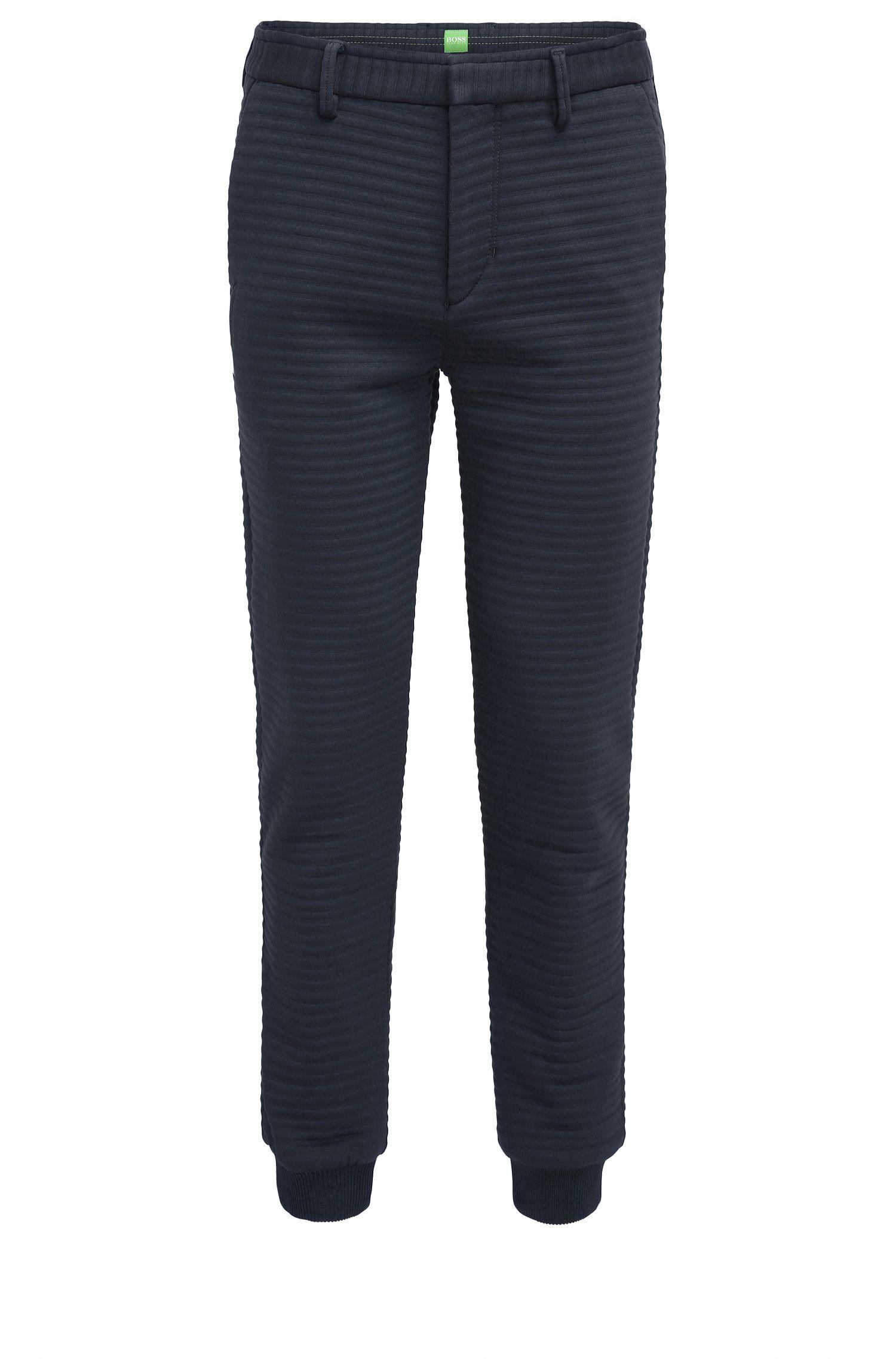 Slim-Fit Hose aus elastischem Baumwoll-Mix mit Struktur