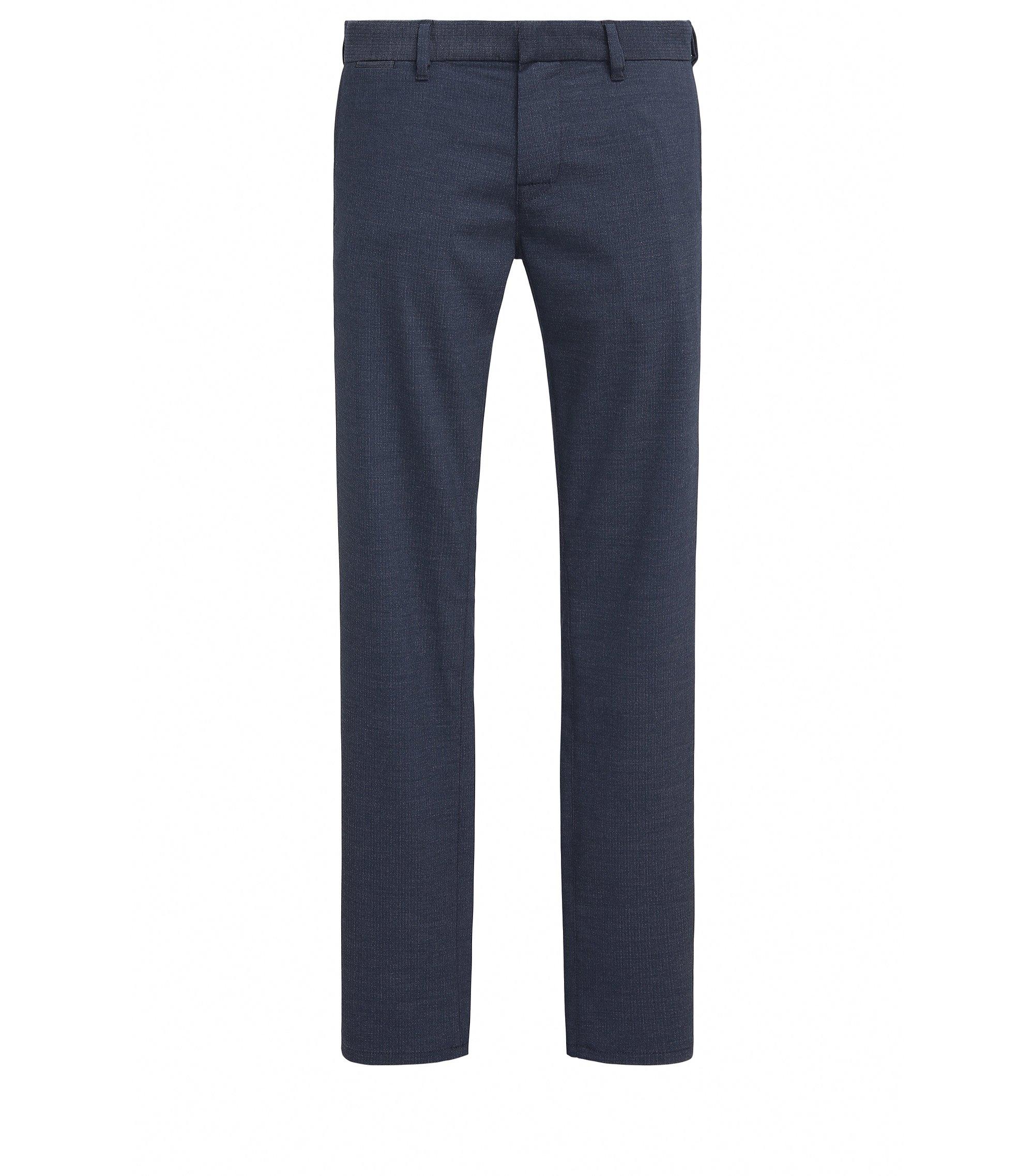 Pantalón slim fit en tejido de peso medio, Azul oscuro