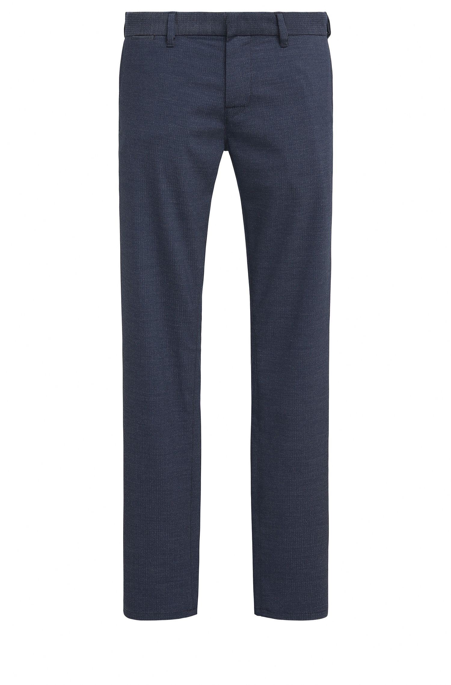 Slim-Fit Hose aus elastischem Material-Mix