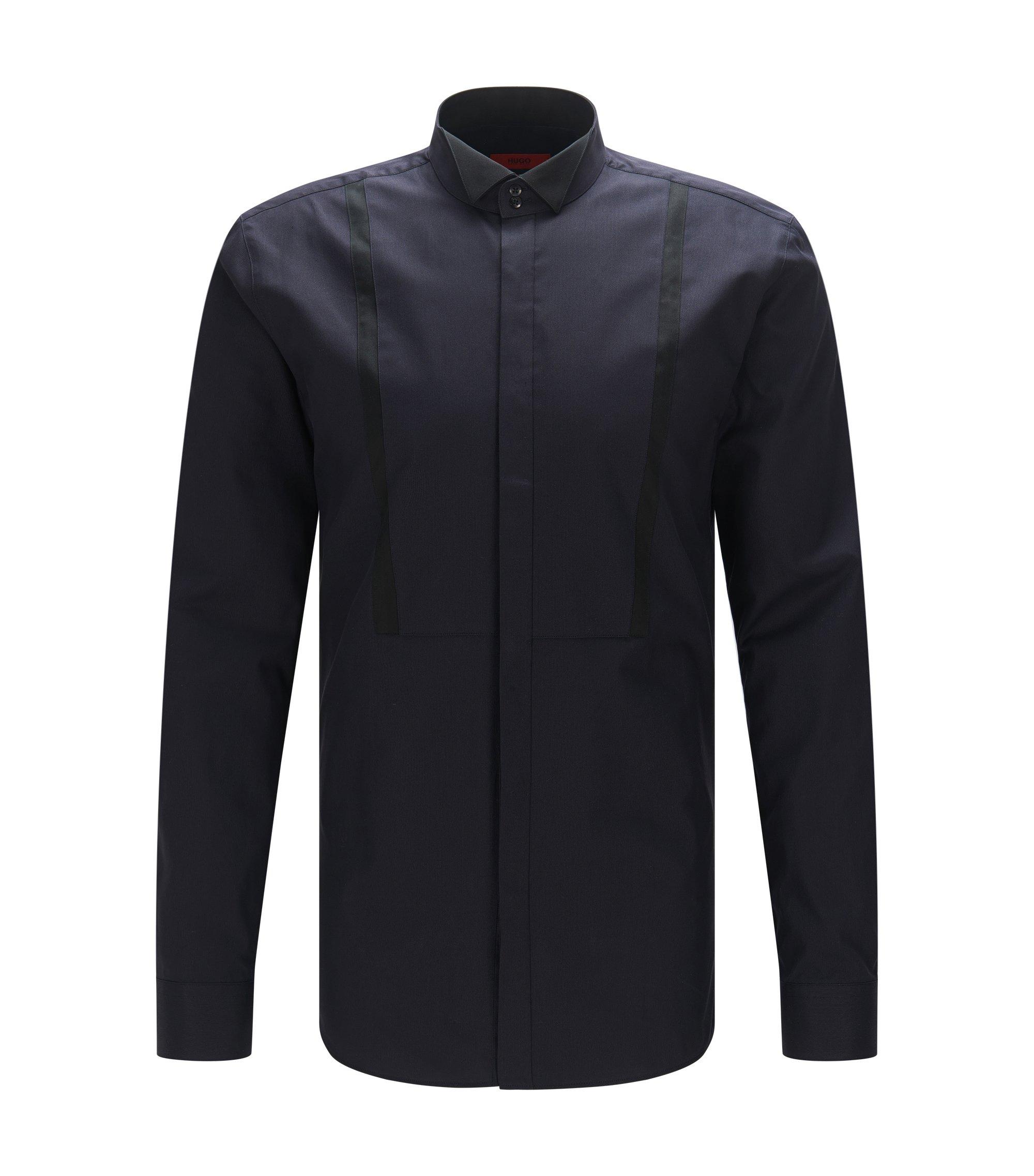 Chemise Extra Slim Fit à rayures contrastantes, Noir