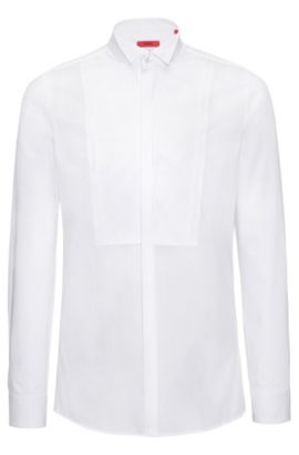 Extra-slim-fit shirt with contrast stripes, Open White