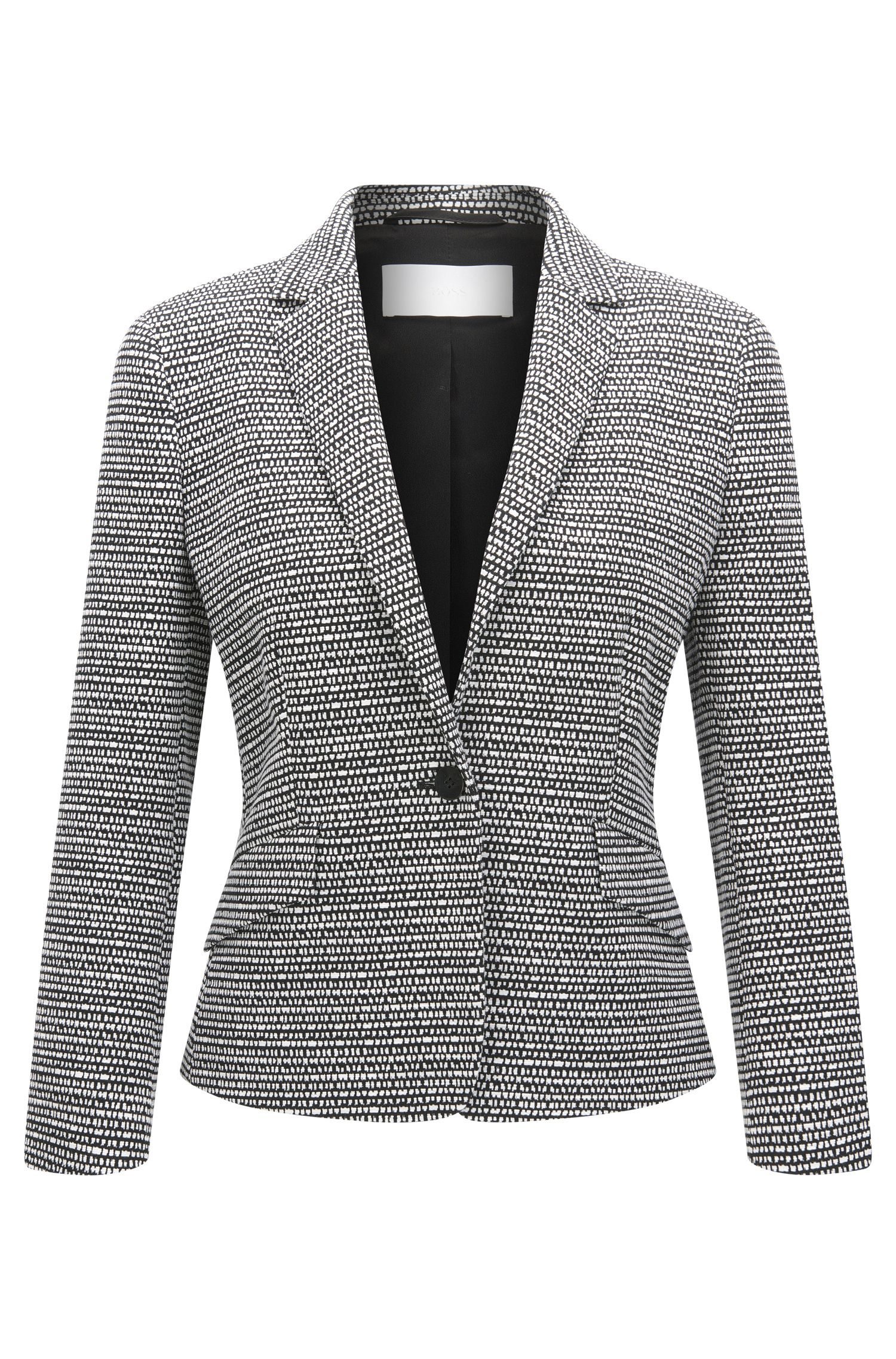 Regular-fit blazer van jacquardmateriaal