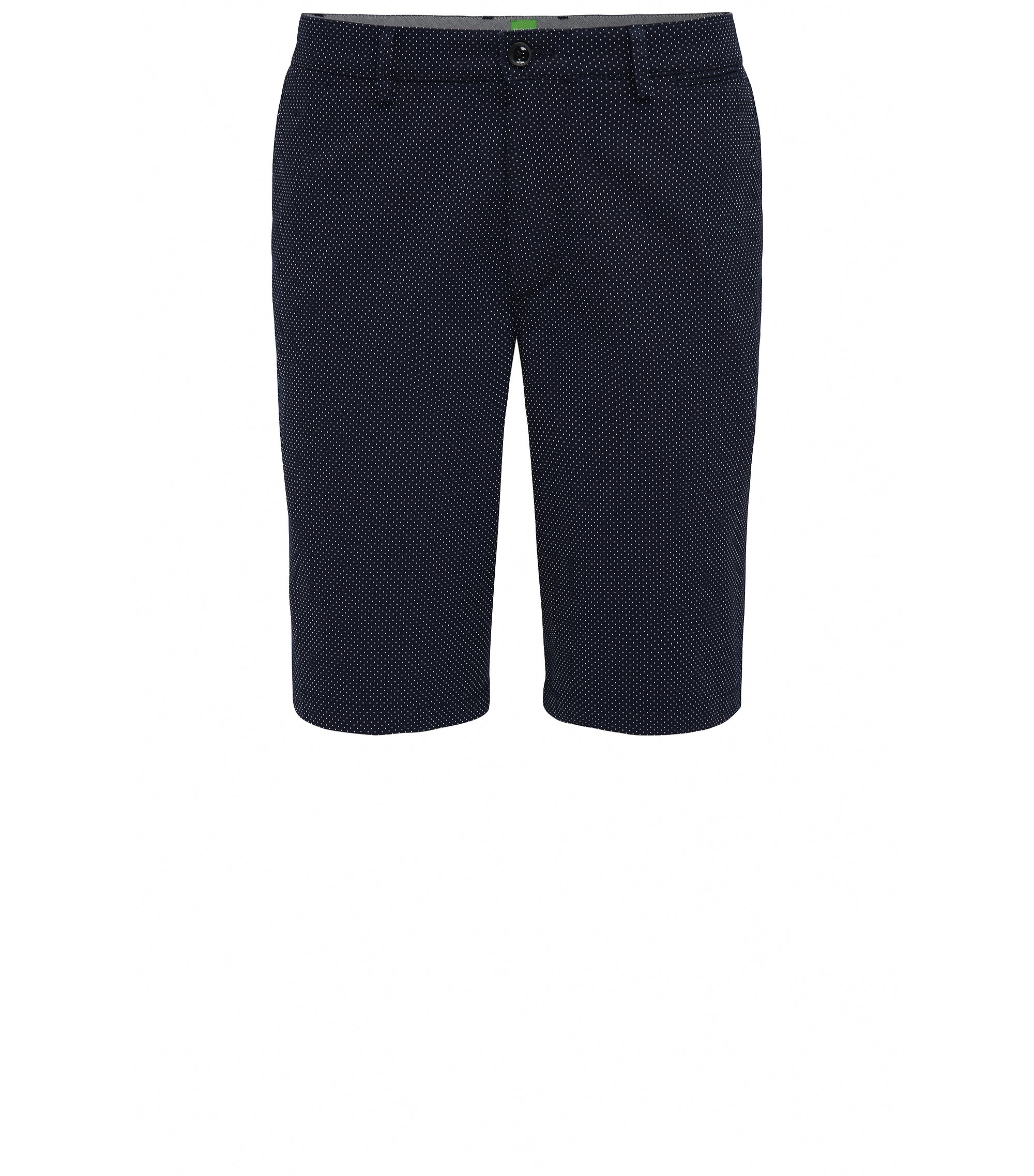 Shorts regular fit en jacquard de puntitos, Azul oscuro