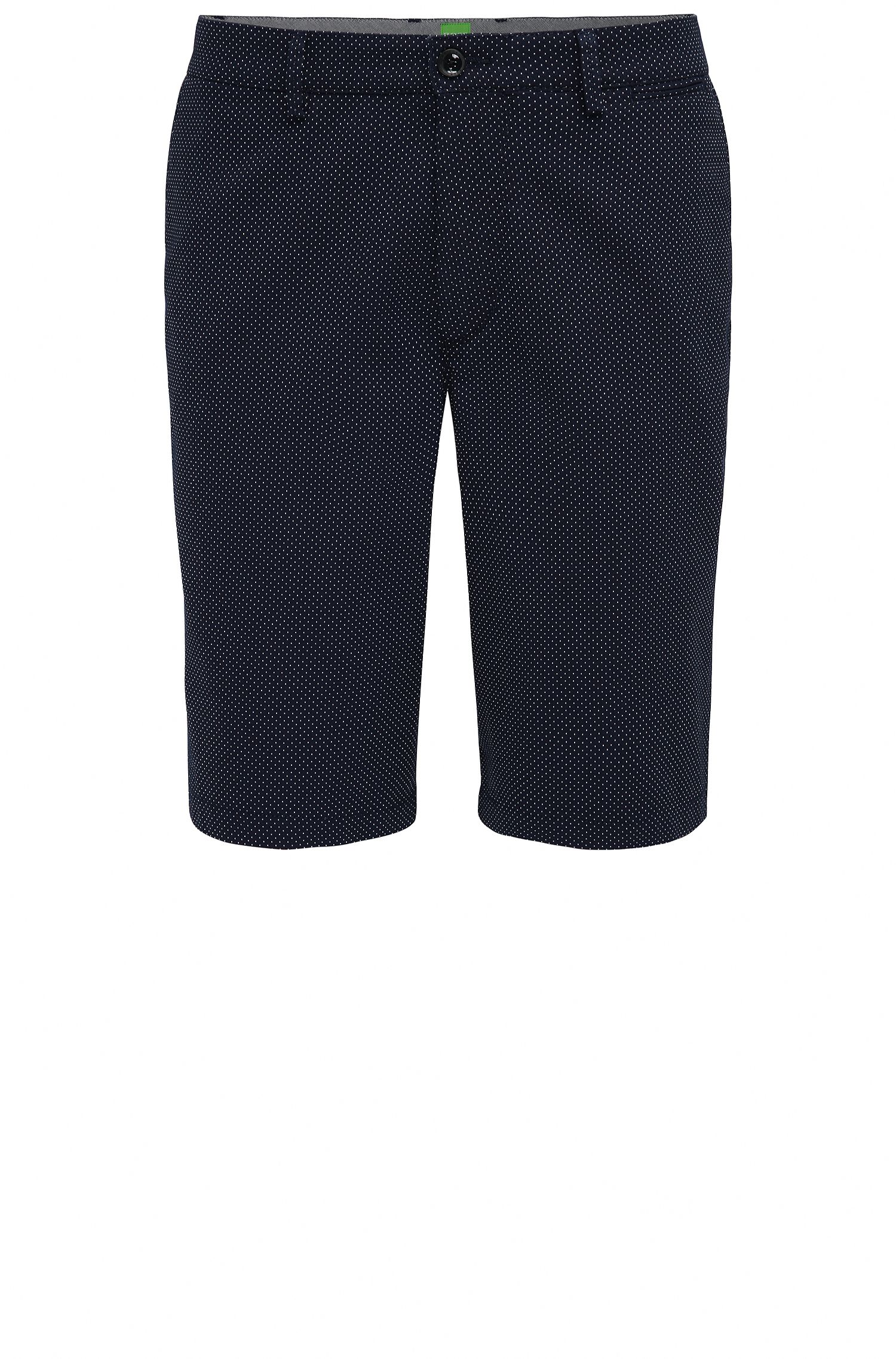Pantaloncini corti regular fit in jacquard a pois