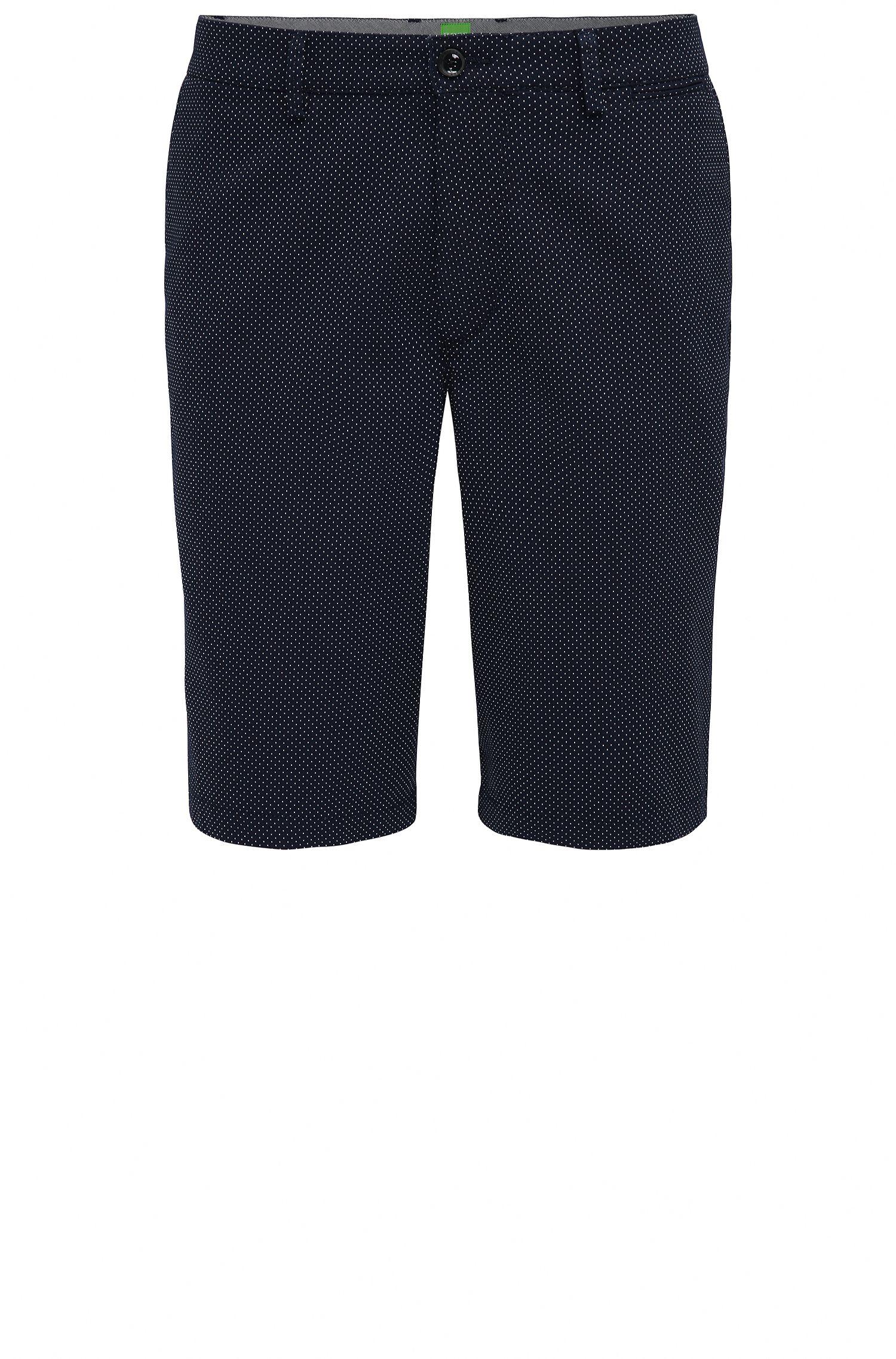 Shorts regular fit en jacquard de puntitos