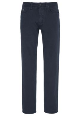 Slim-fit jeans in two-tone twill, Donkerblauw