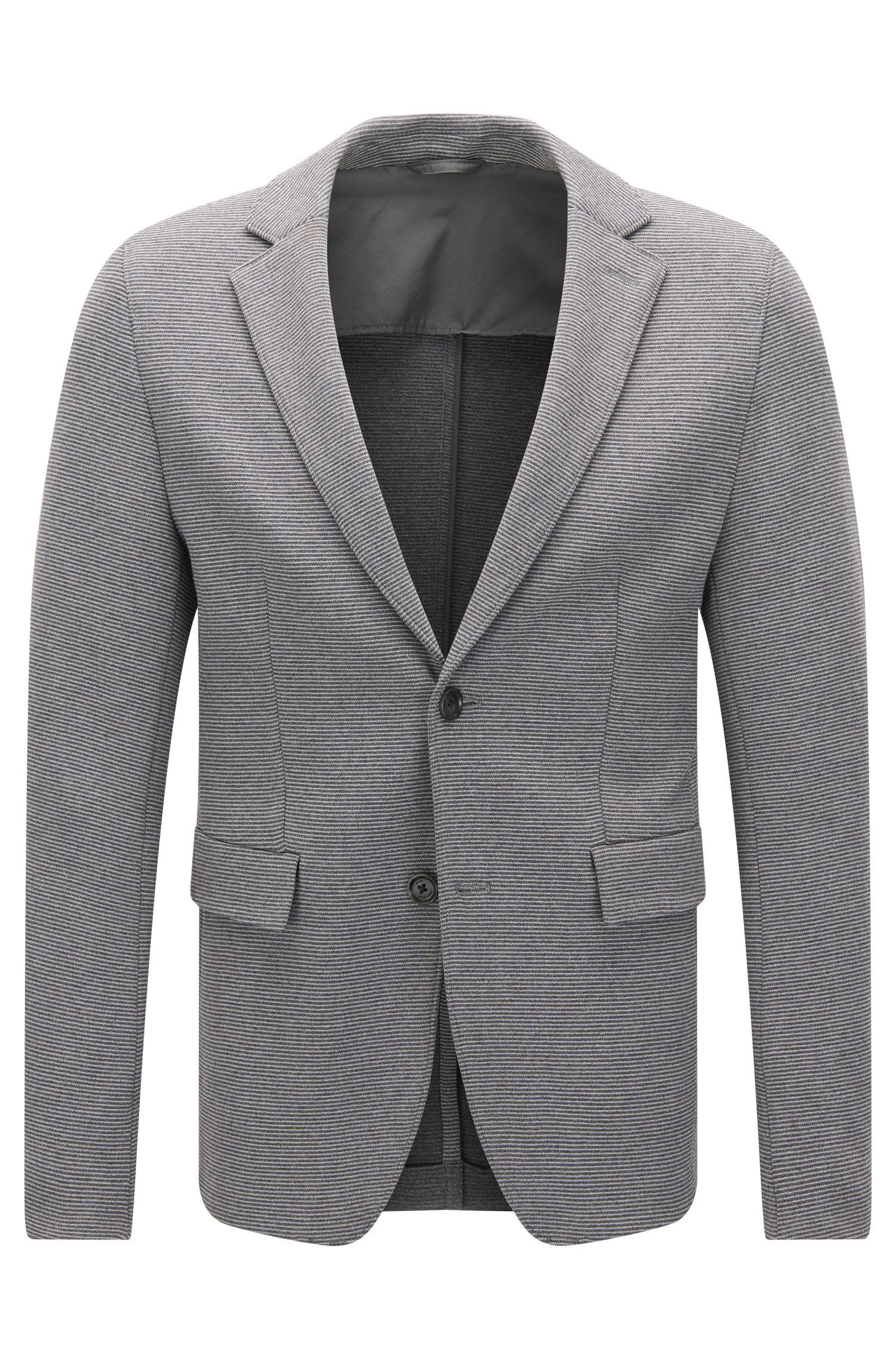 Veste Extra Slim Fit en coton stretch texturé mélangé
