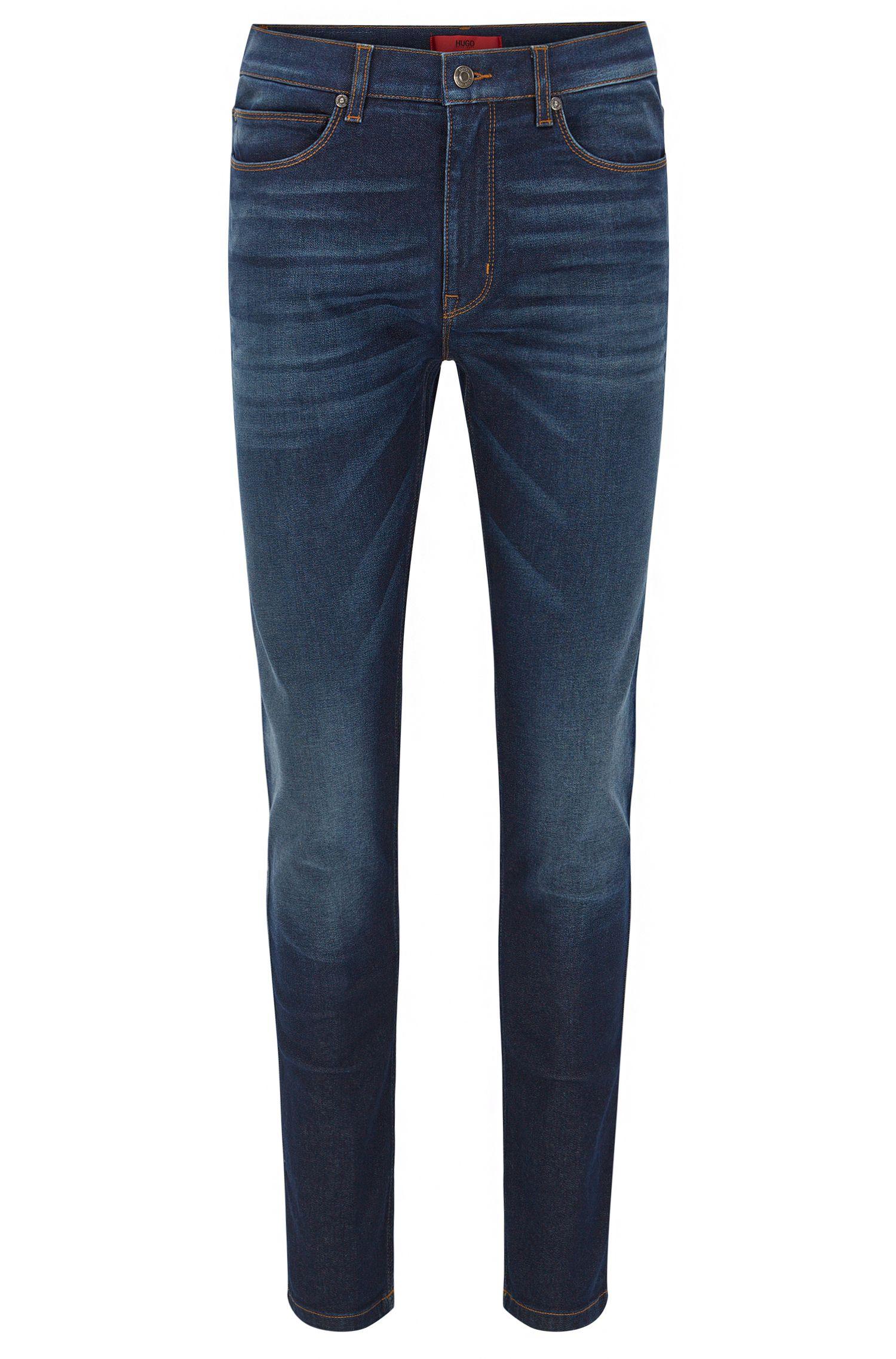 Skinny-Fit Jeans aus elastischem Stone-washed-Denim