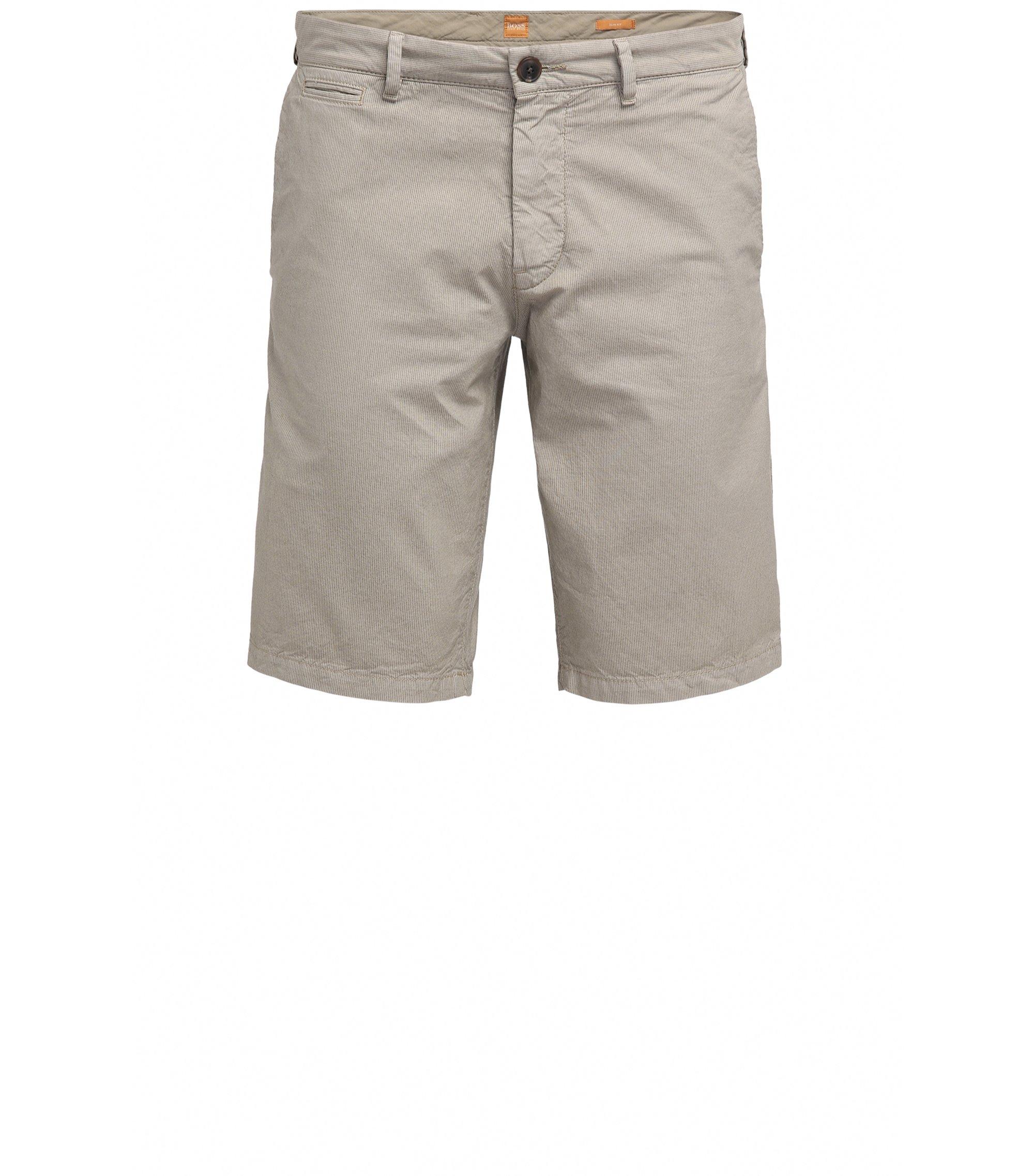 Slim-Fit Shorts aus Baumwolle mit verdeckten Taschen, Beige
