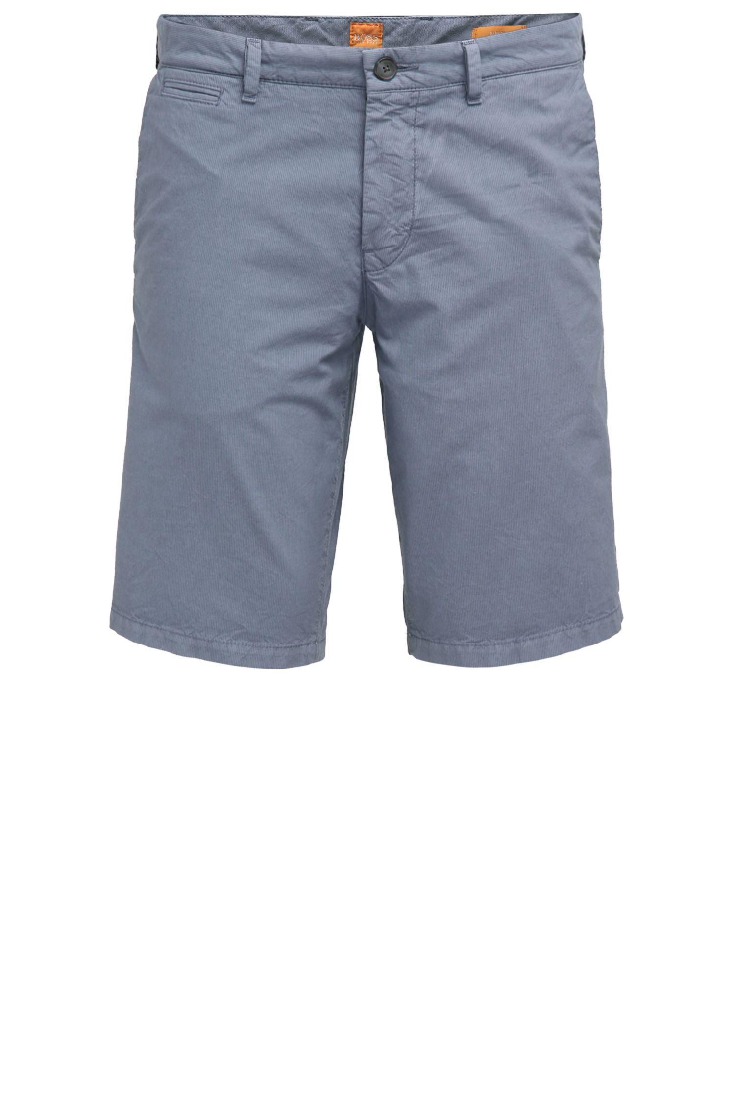 Pantaloncini corti slim fit in cotone con tasche nascoste
