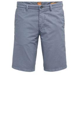 Slim-Fit Shorts aus Baumwolle mit verdeckten Taschen, Dunkelblau