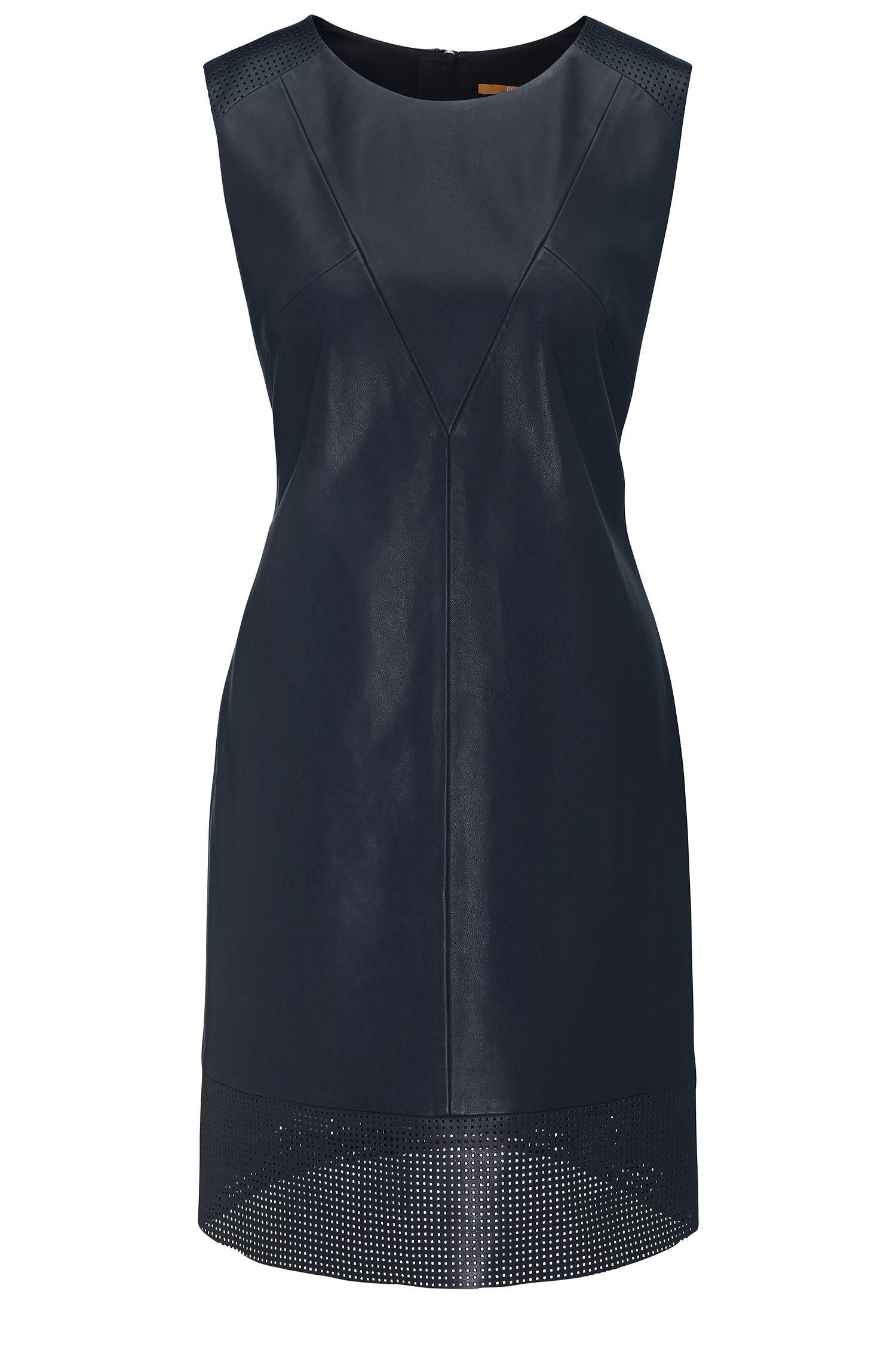 Regular-Fit A-Linien-Kleid aus Kunstleder