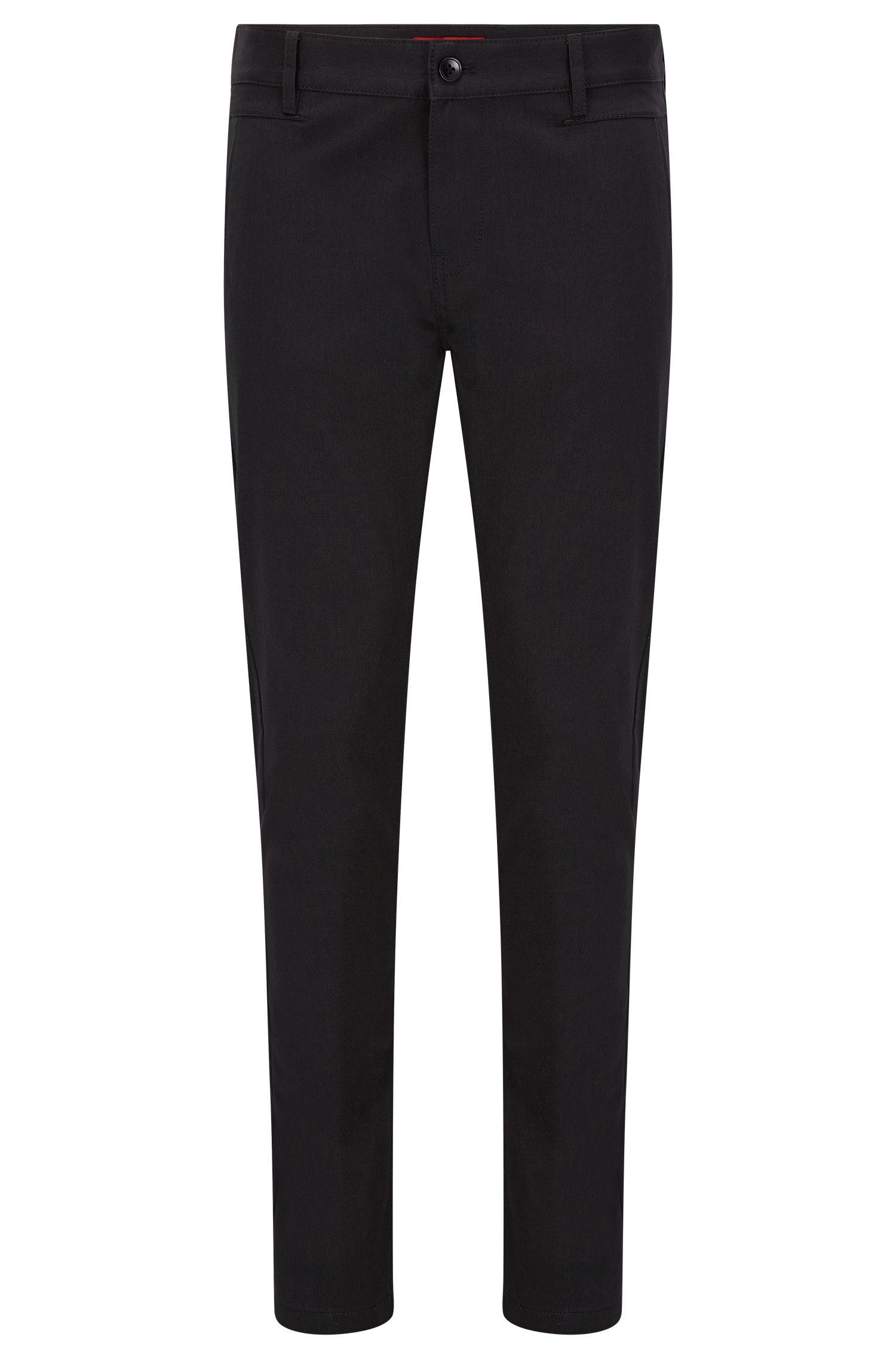 Pantaloni a gamba aderente in twill ad alta densità