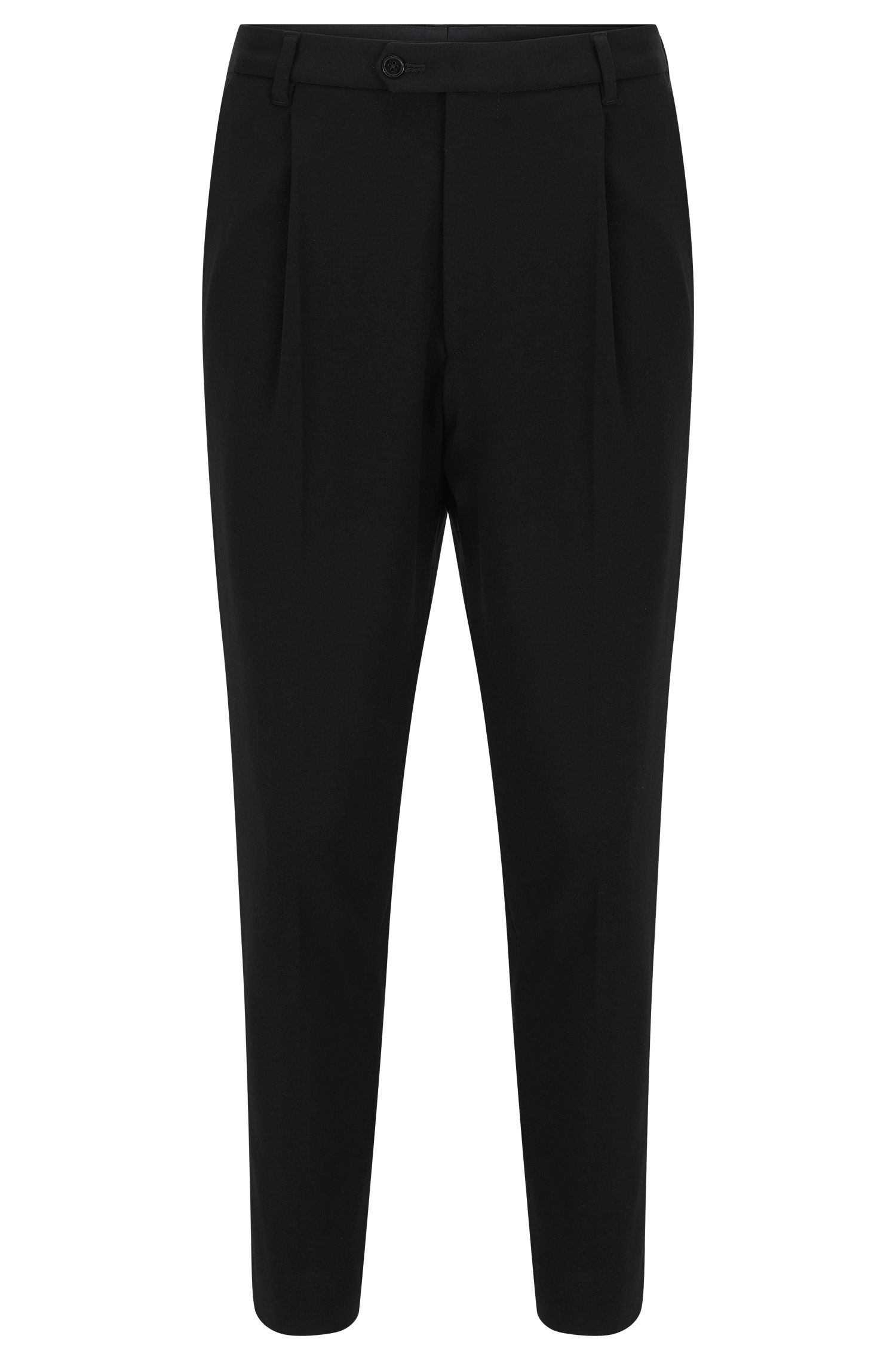 Tapered-leg trousers in soft jersey
