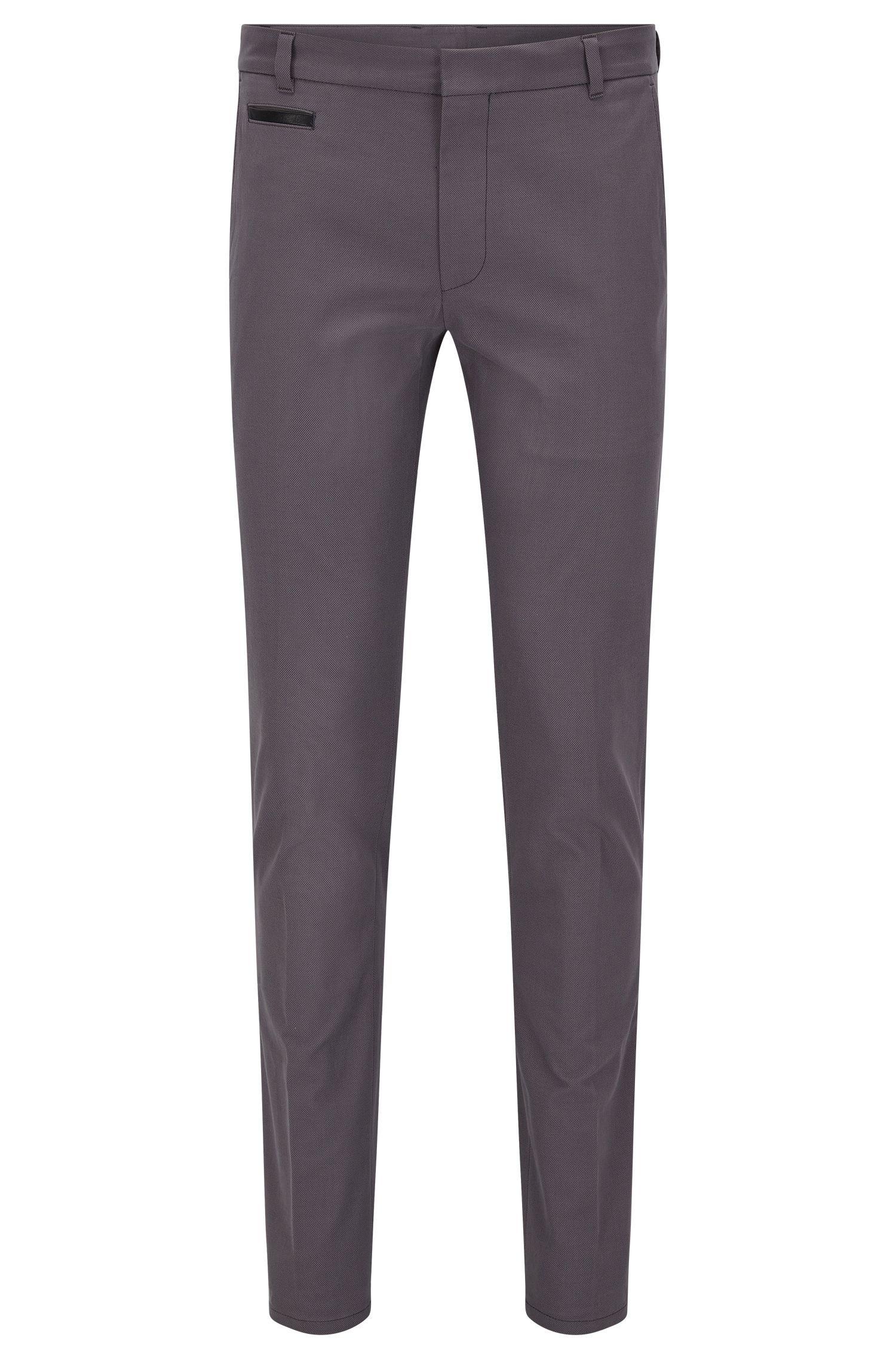Extra Slim-Fit Hose aus zweifarbigem Baumwoll-Mix