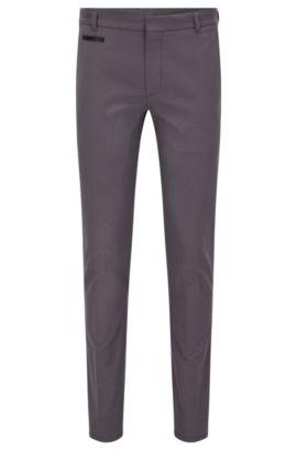 Pantalón extra slim fit en tejido de dos tonos, Gris