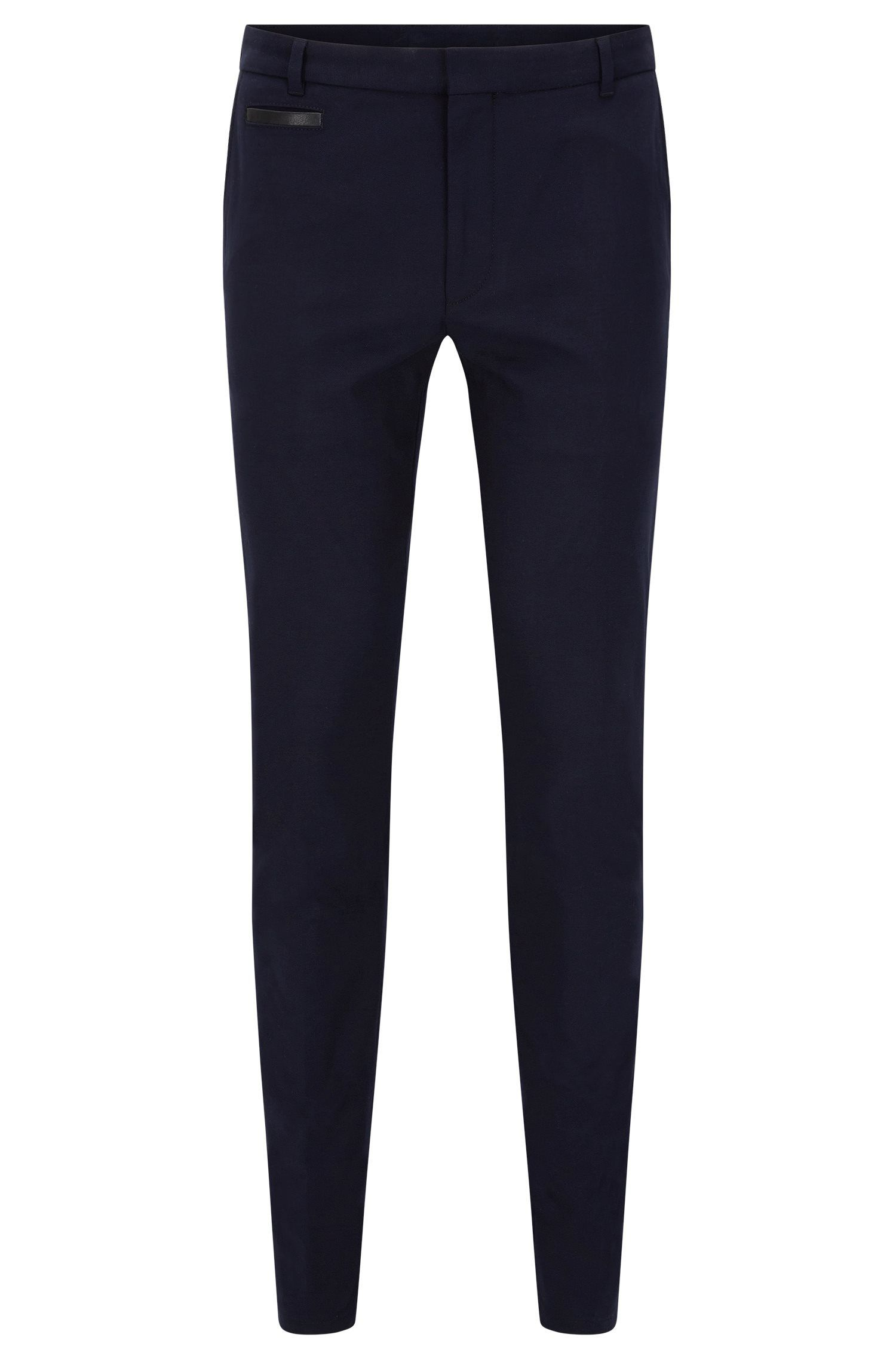 Extra-slim-fit trousers in two-tone fabric