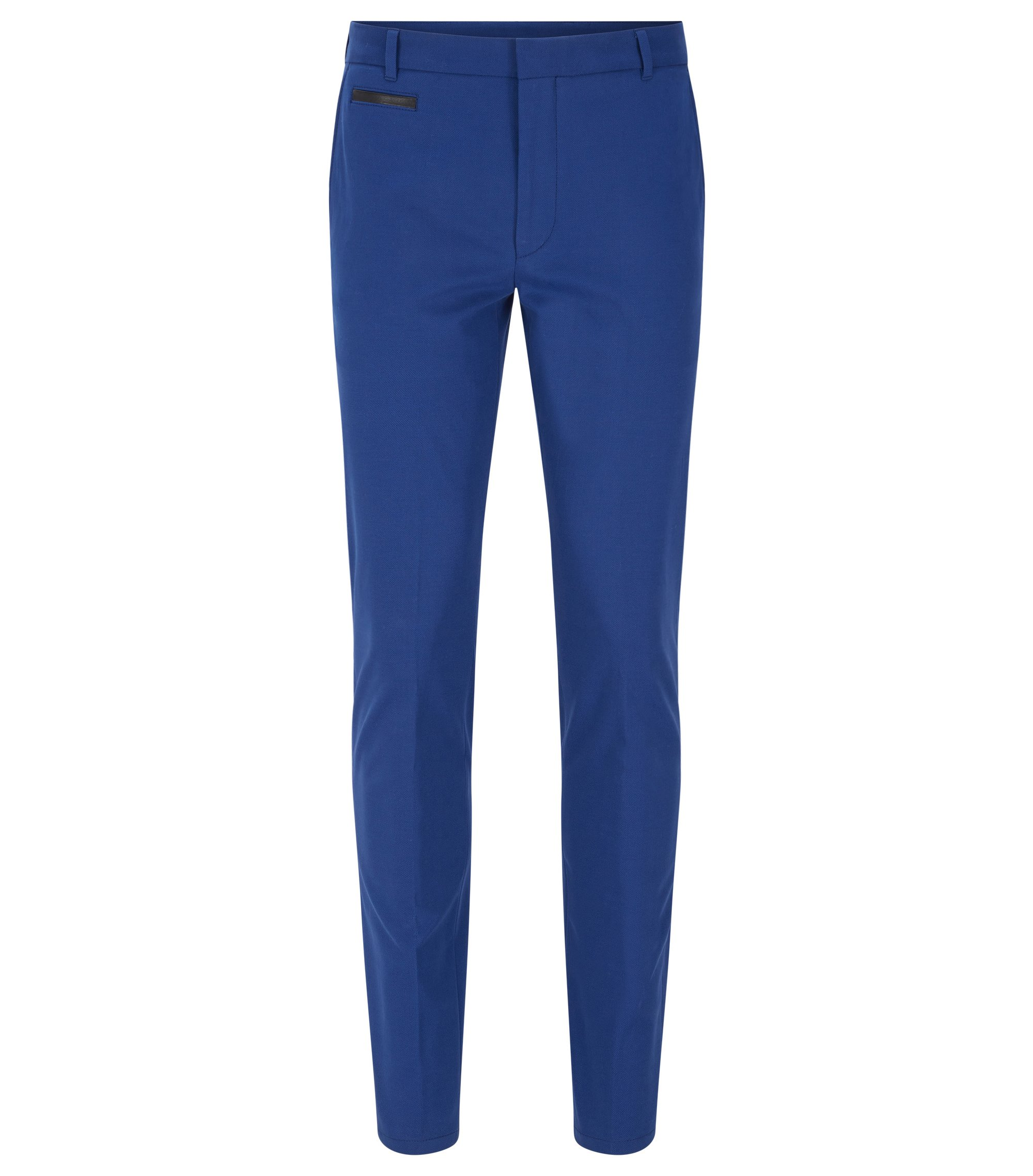 Extra-slim-fit trousers in two-tone fabric, Open Blue