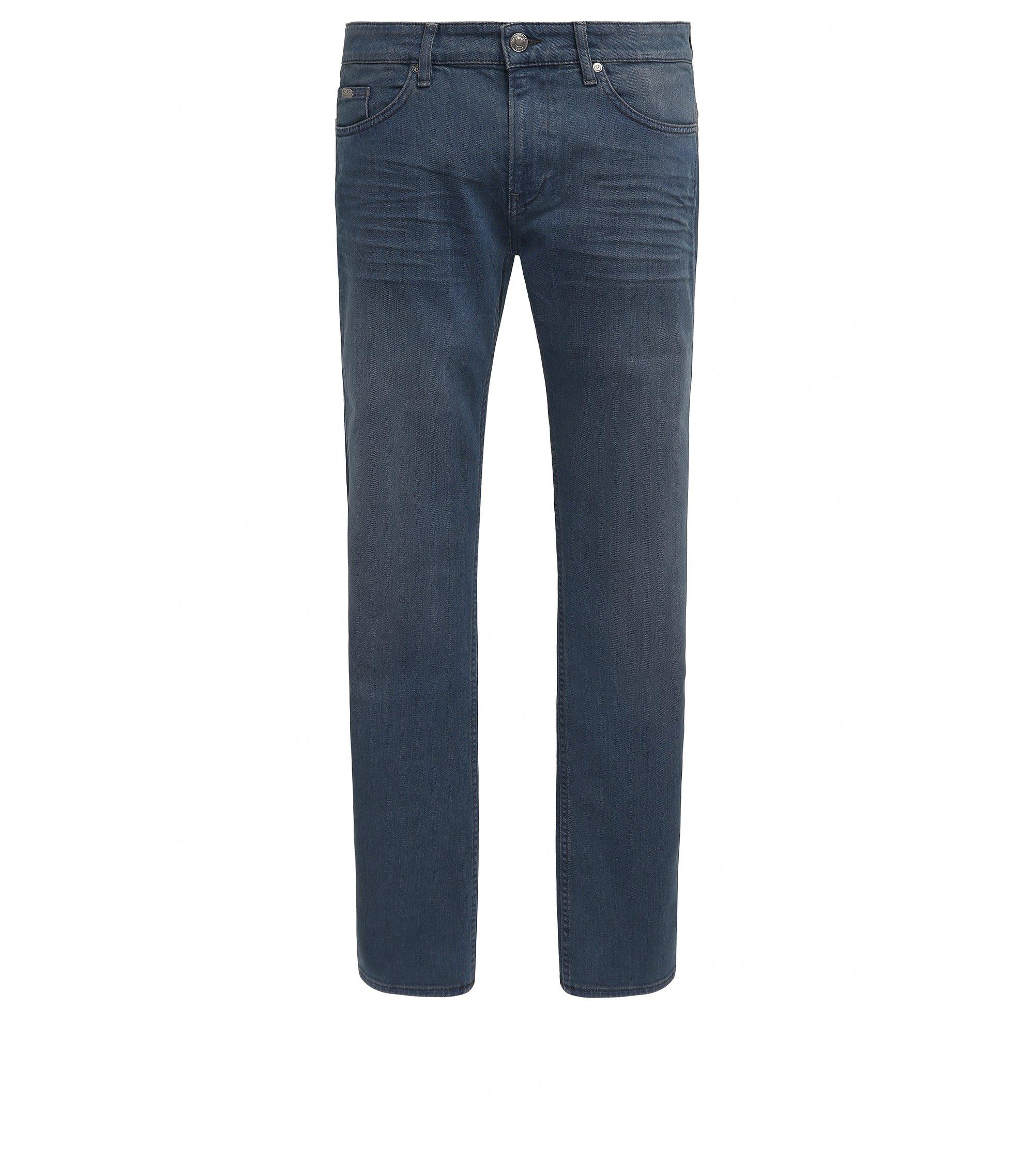 Jeans slim fit in denim effetto slavato, Celeste
