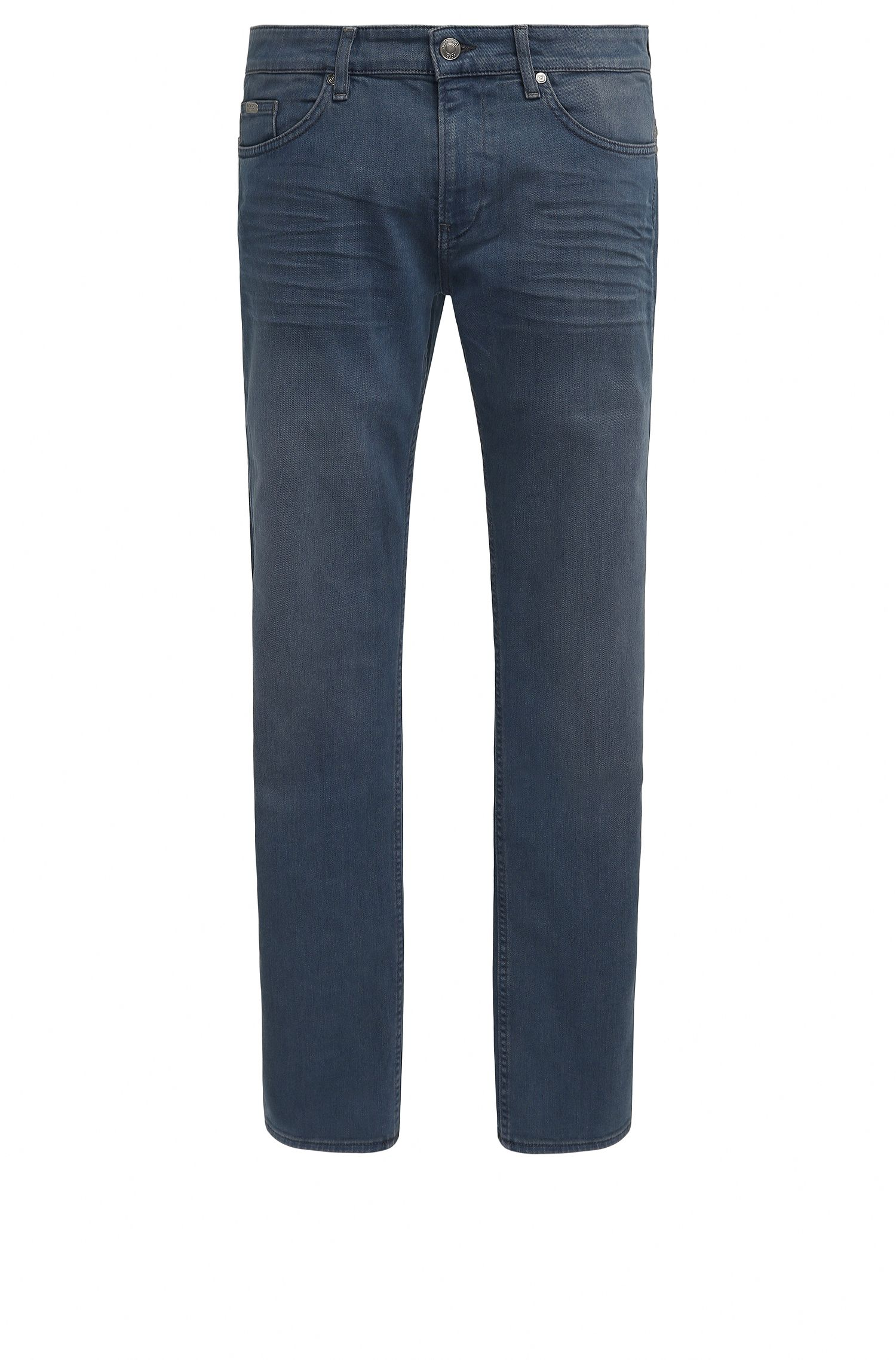 Slim-fit jeans van over-dyed denim