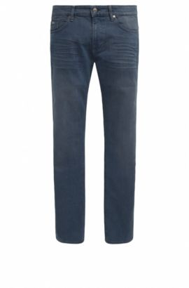 Slim-fit jeans van over-dyed denim, Lichtblauw