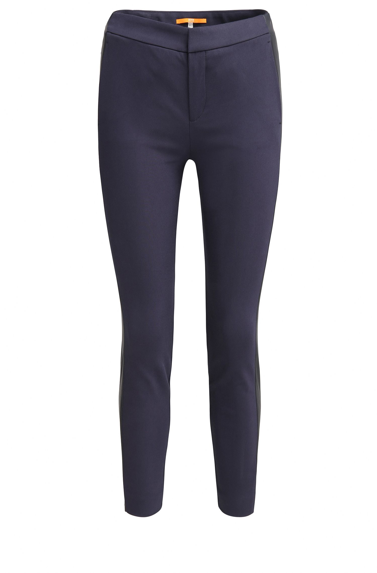 Pantaloni slim fit in misto cotone