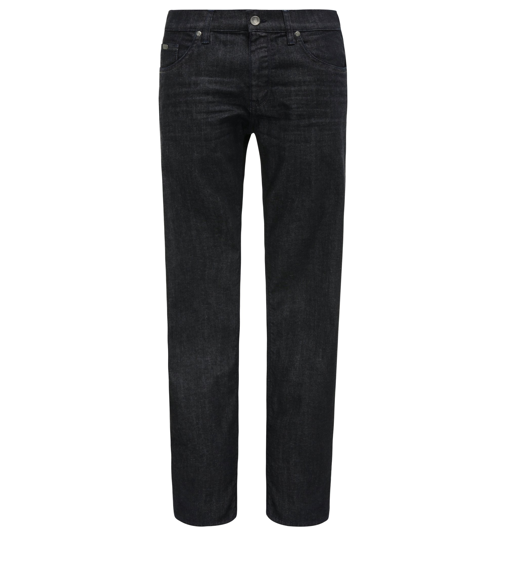 Jeans regular fit in comodo denim elasticizzato, Blu scuro