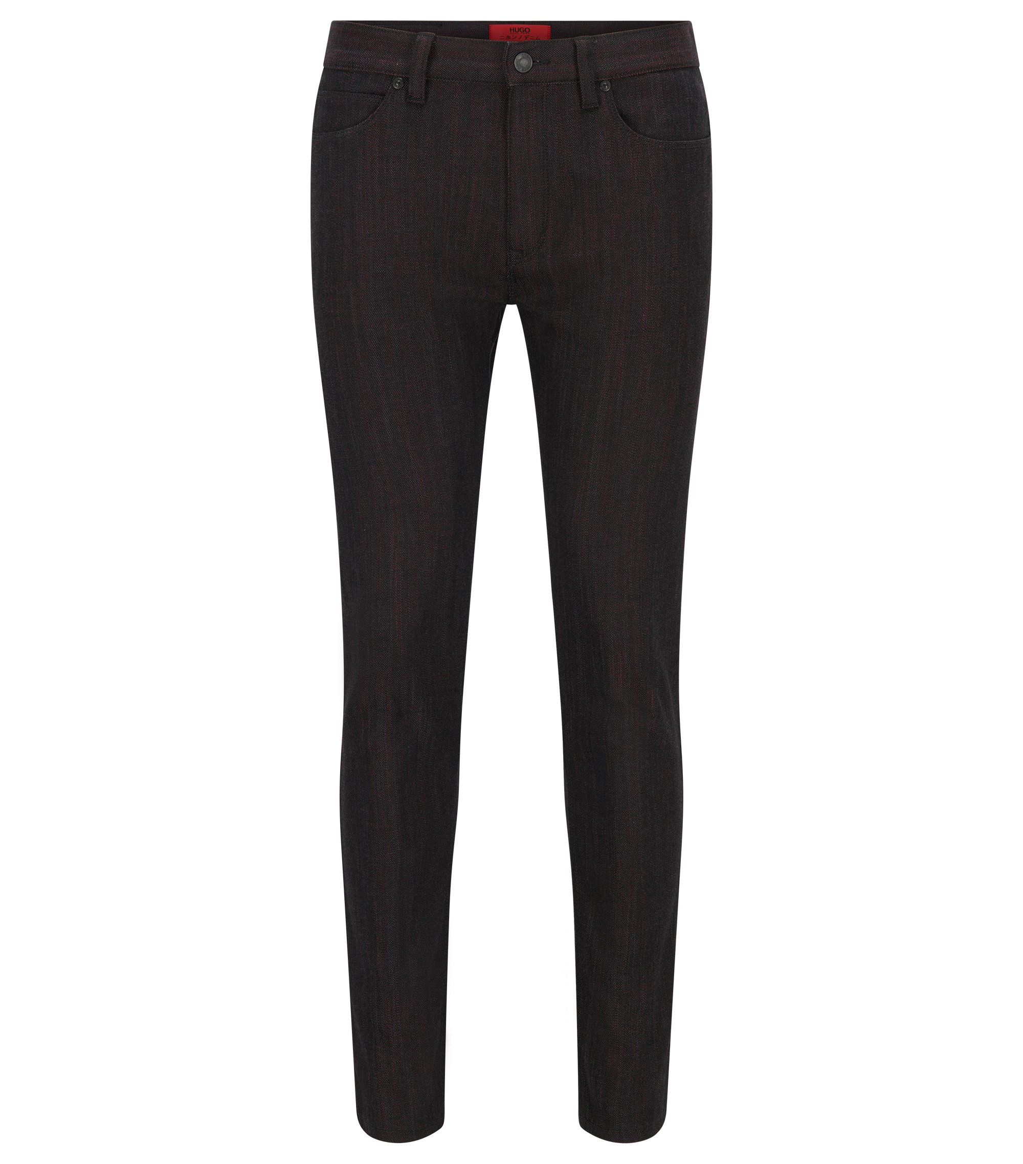 Jeans Skinny Fit en denim japonais, Noir