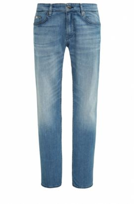 Jeans Slim Fit en denim stretch confortable, Bleu