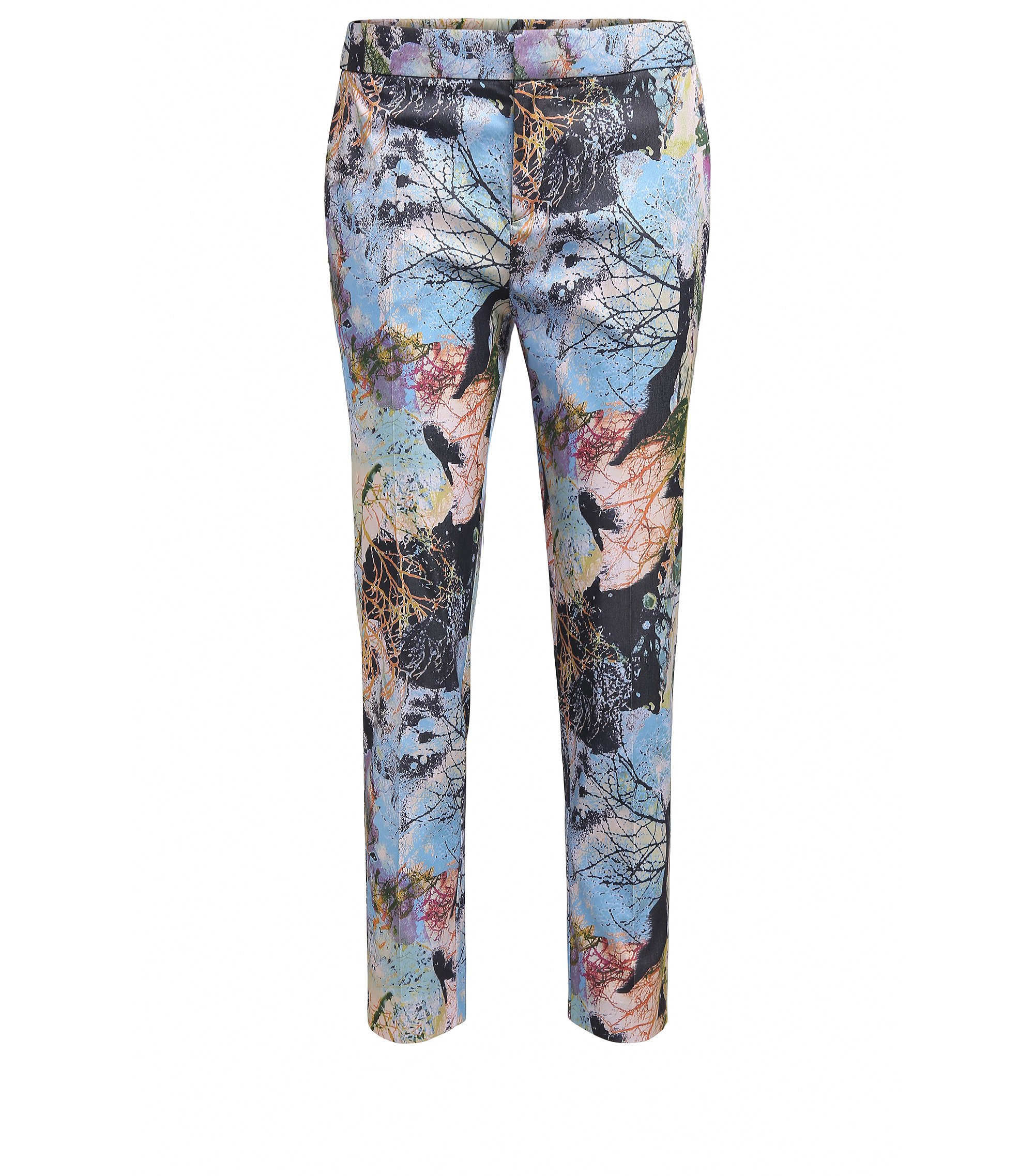 Relaxed-fit trousers in nature-inspired print, Patterned