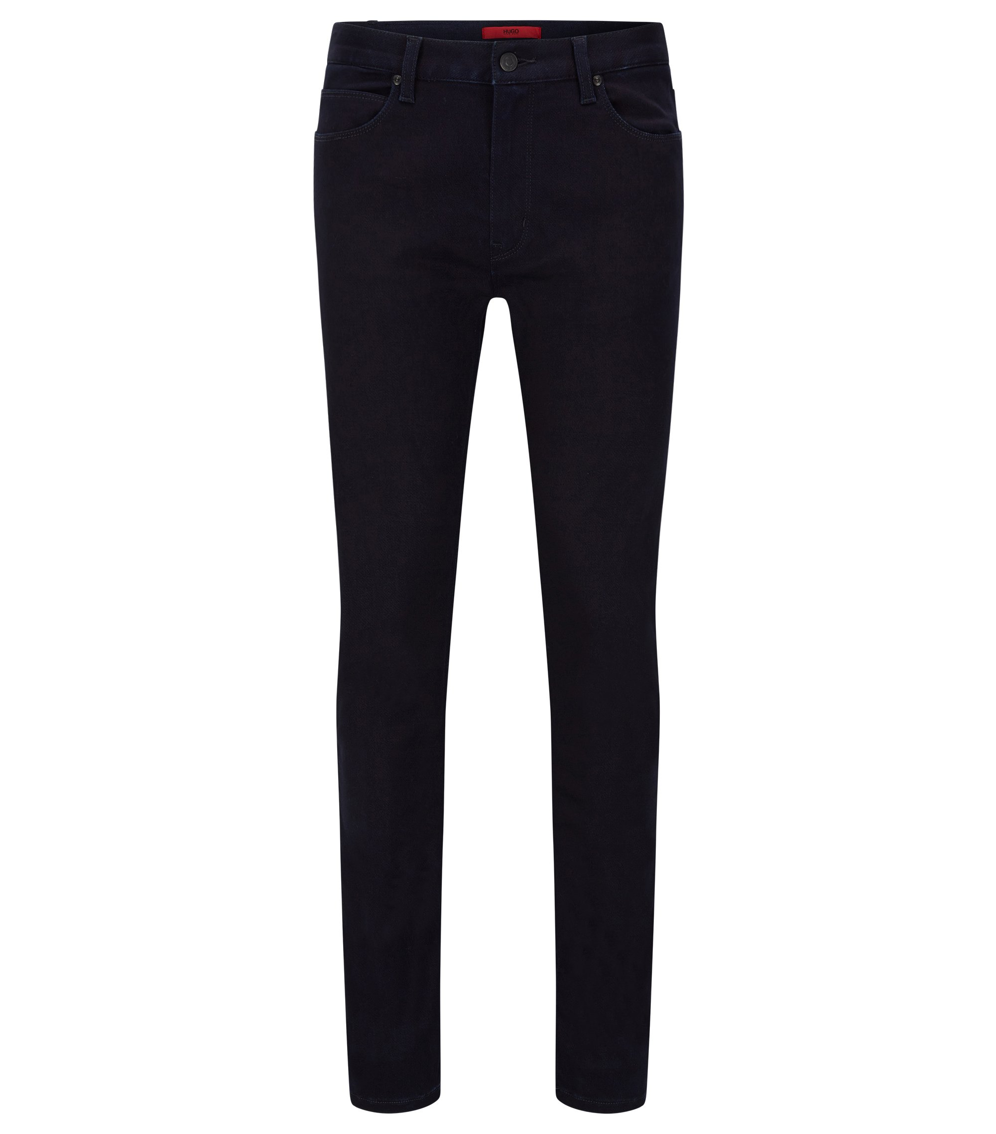Skinny-Fit Jeans aus Super-Stretch-Denim , Dunkelblau