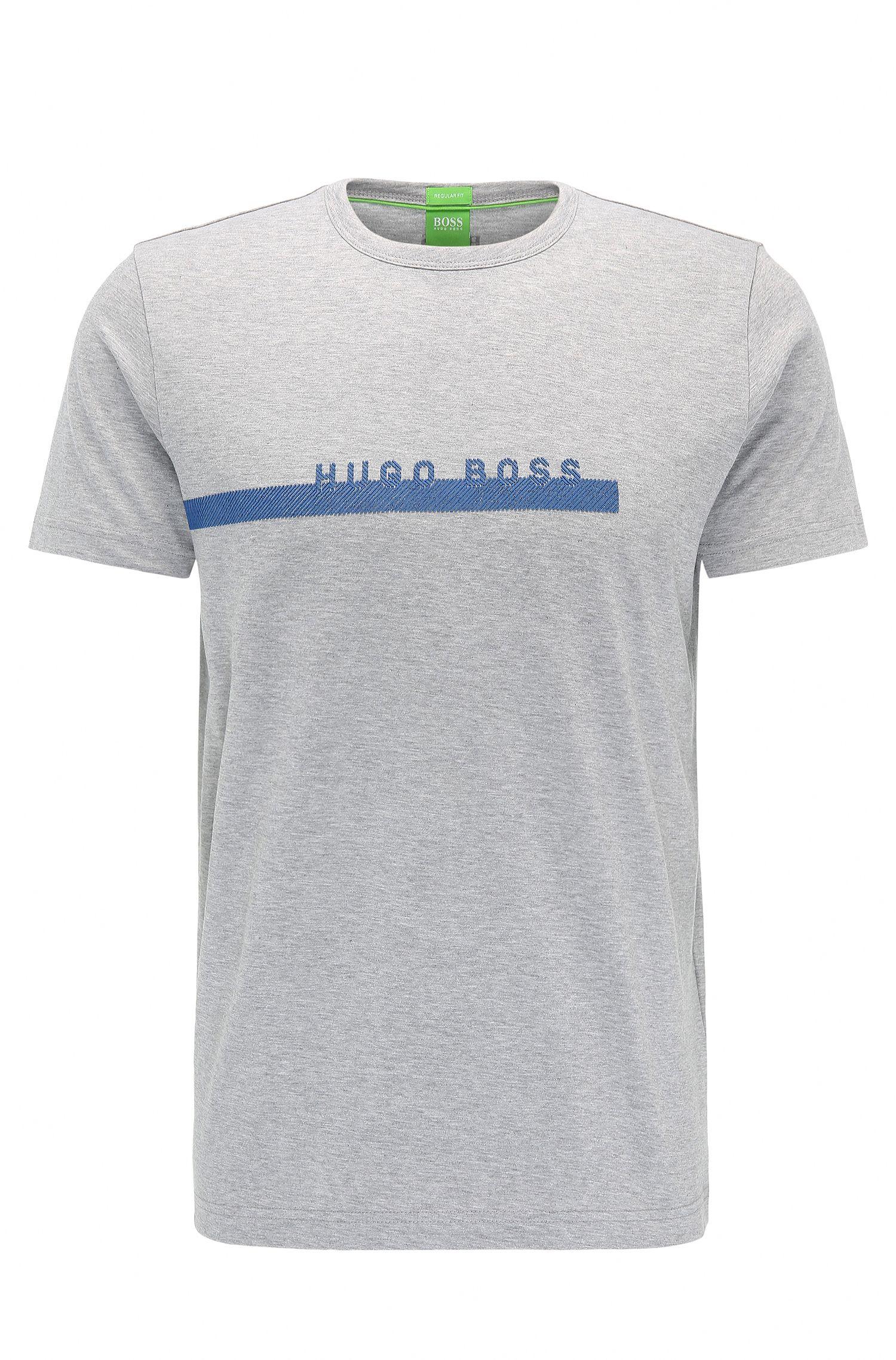 Regular-Fit T-Shirt aus weicher Baumwolle mit Logo