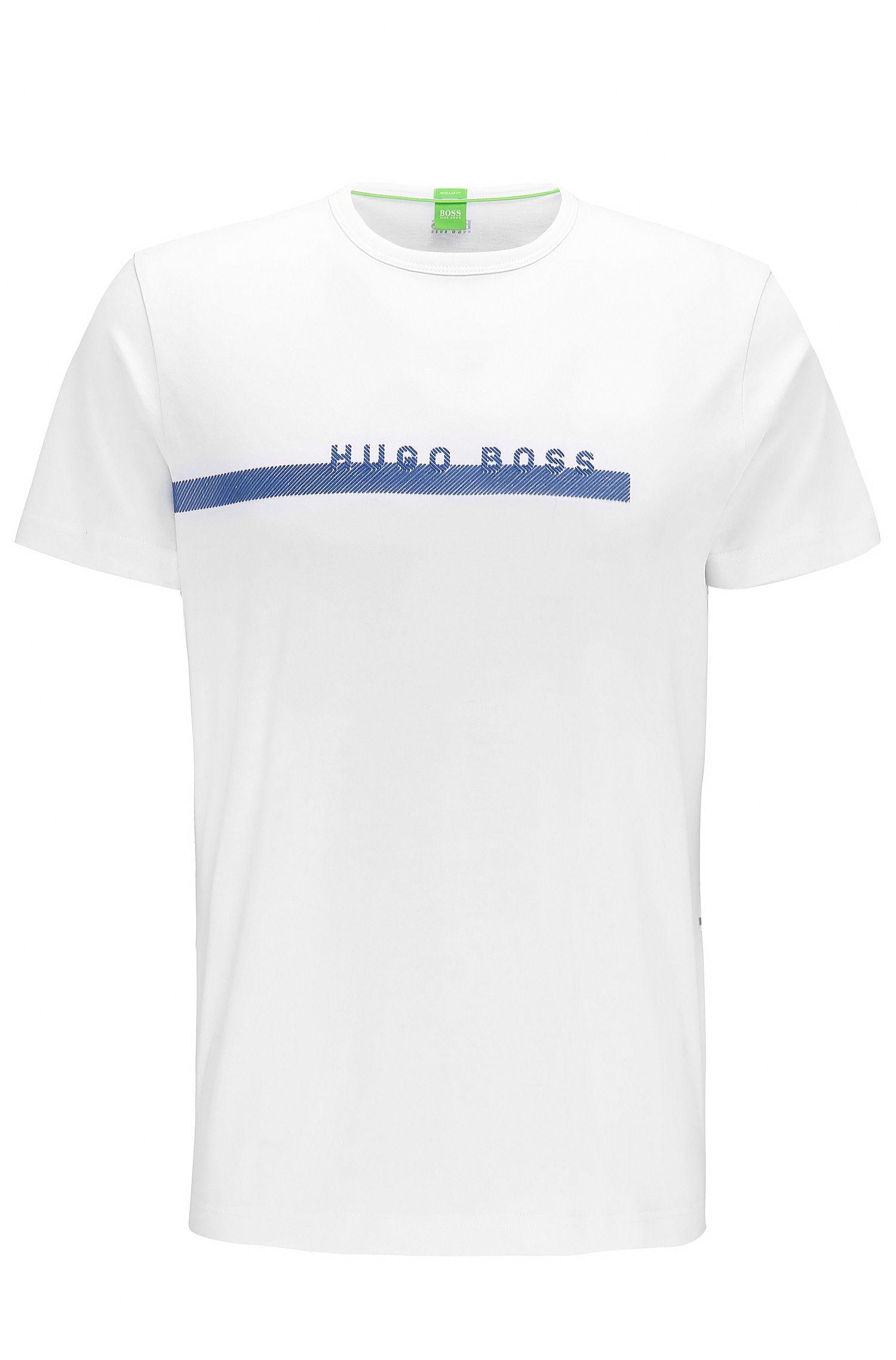 T-shirt Regular Fit en coton doux avec logo