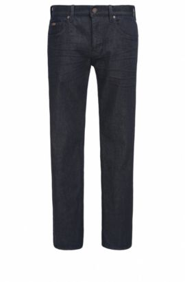 Jeans relaxed fit in comodo denim elasticizzato, Blu scuro