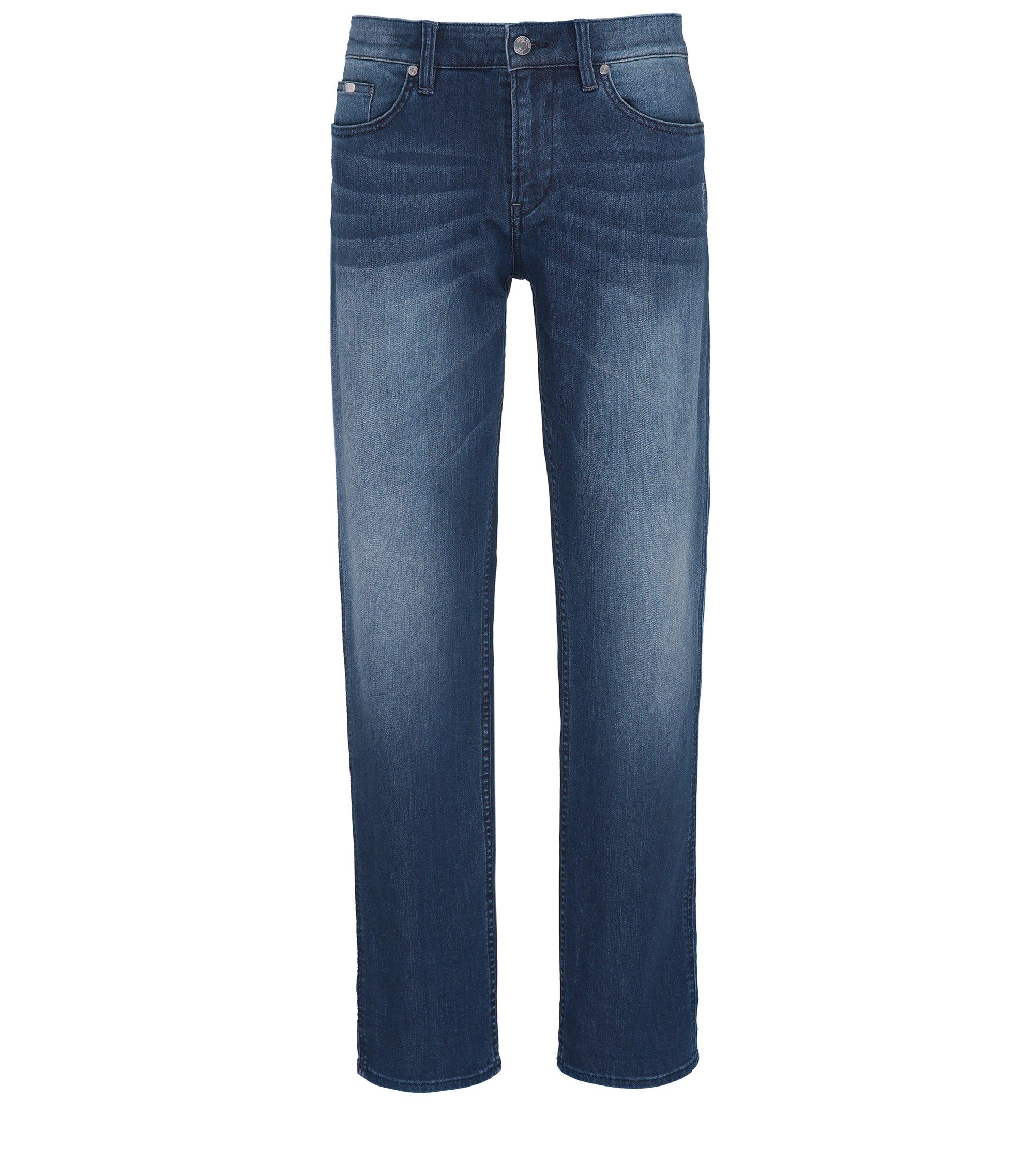 Jeans Slim Fit en denim stretch confortable, Turquoise