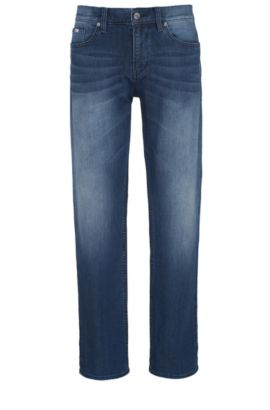 Slim-fit jeans in comfort-stretch denim, Turquoise