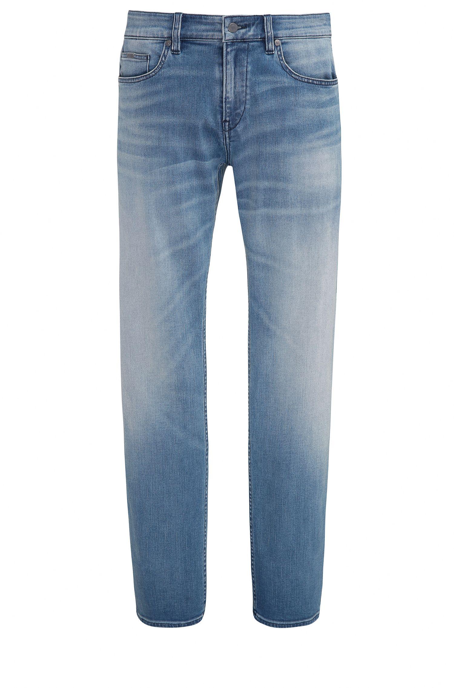 Slim-fit jeans van denim met extra stretch